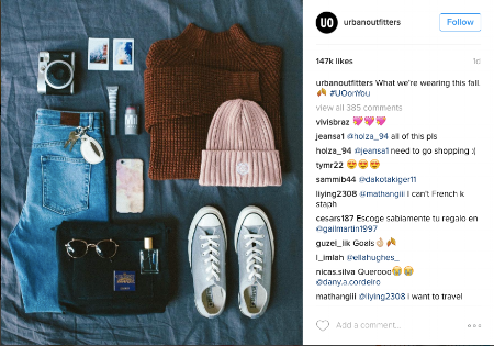 Flat Lays - Followers have the ability to zoom in on each item which is perfect for people who love to post flat lay photos.