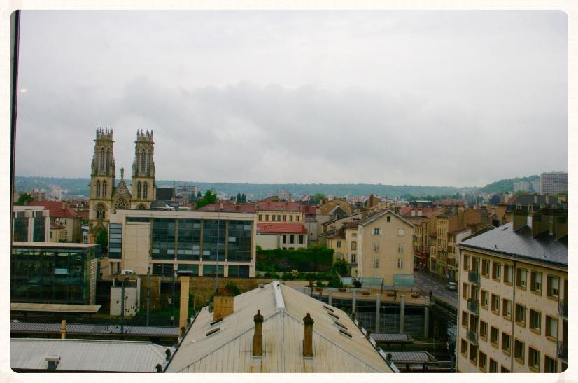 View of Nancy from the hotel room.  Park hotel, Nancy, France. Image©gunjanvirk