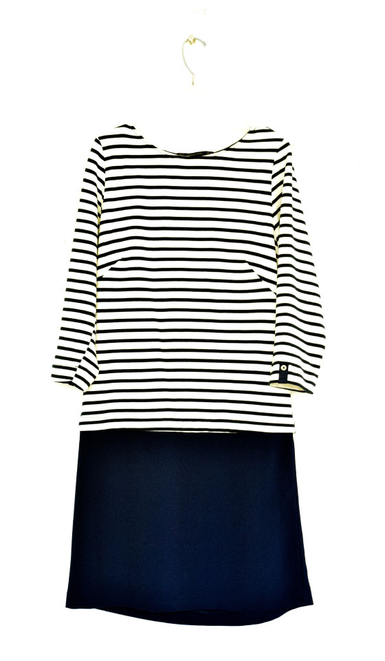 My Zara striped navy dress combines elegance and functionality. Image©gunjanvirk