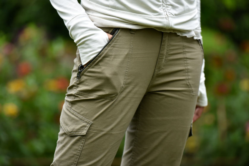 Zipper pockets in Patagonia cargo pants, image©gunjanvirk