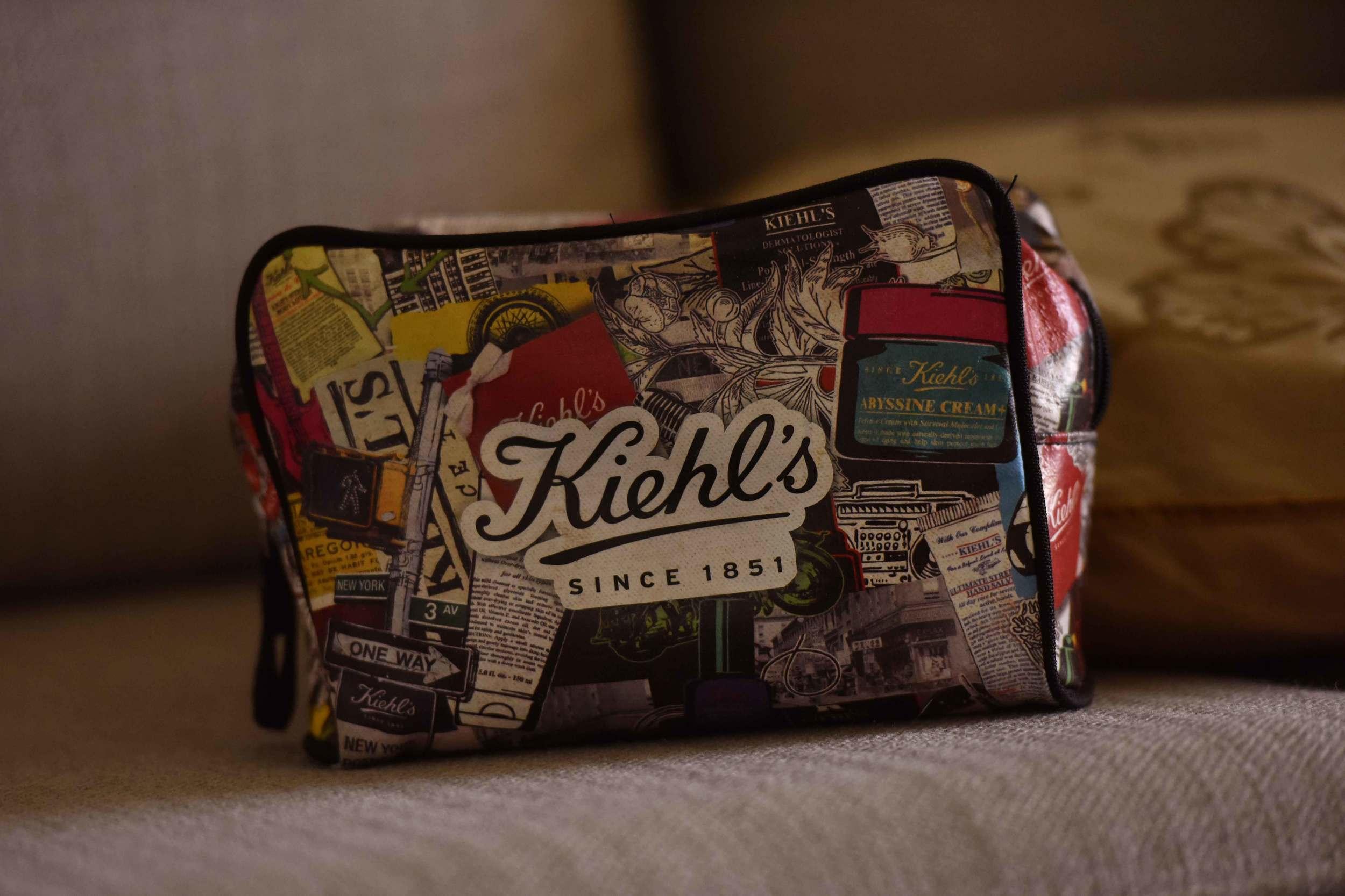 Keeping organised makes a photoshoot fun. The Kiehl's make-up bag. Image©gunjanvirk