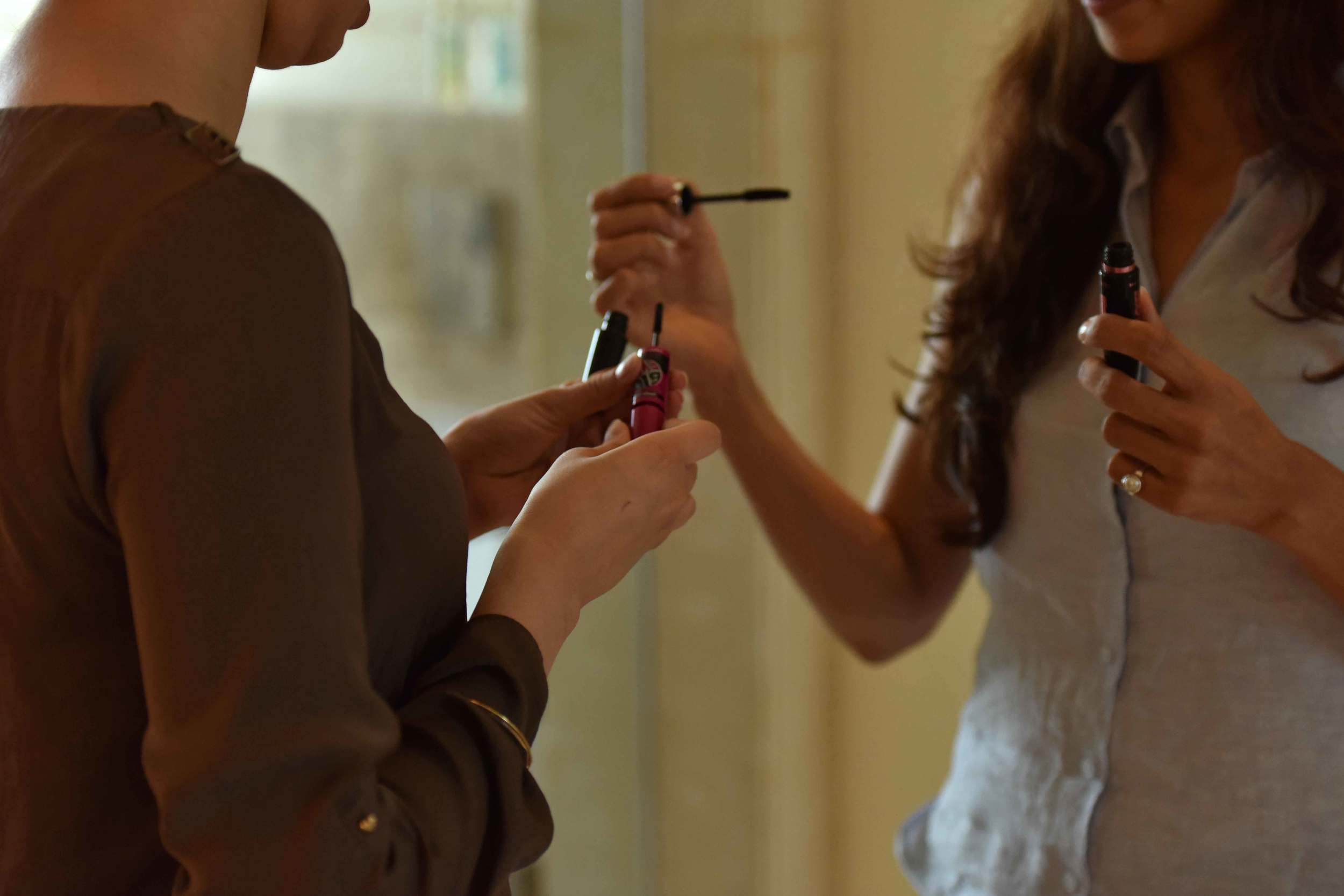 Friends help with make-up for Sourcing Style photoshoot! Image©gunjanvirk