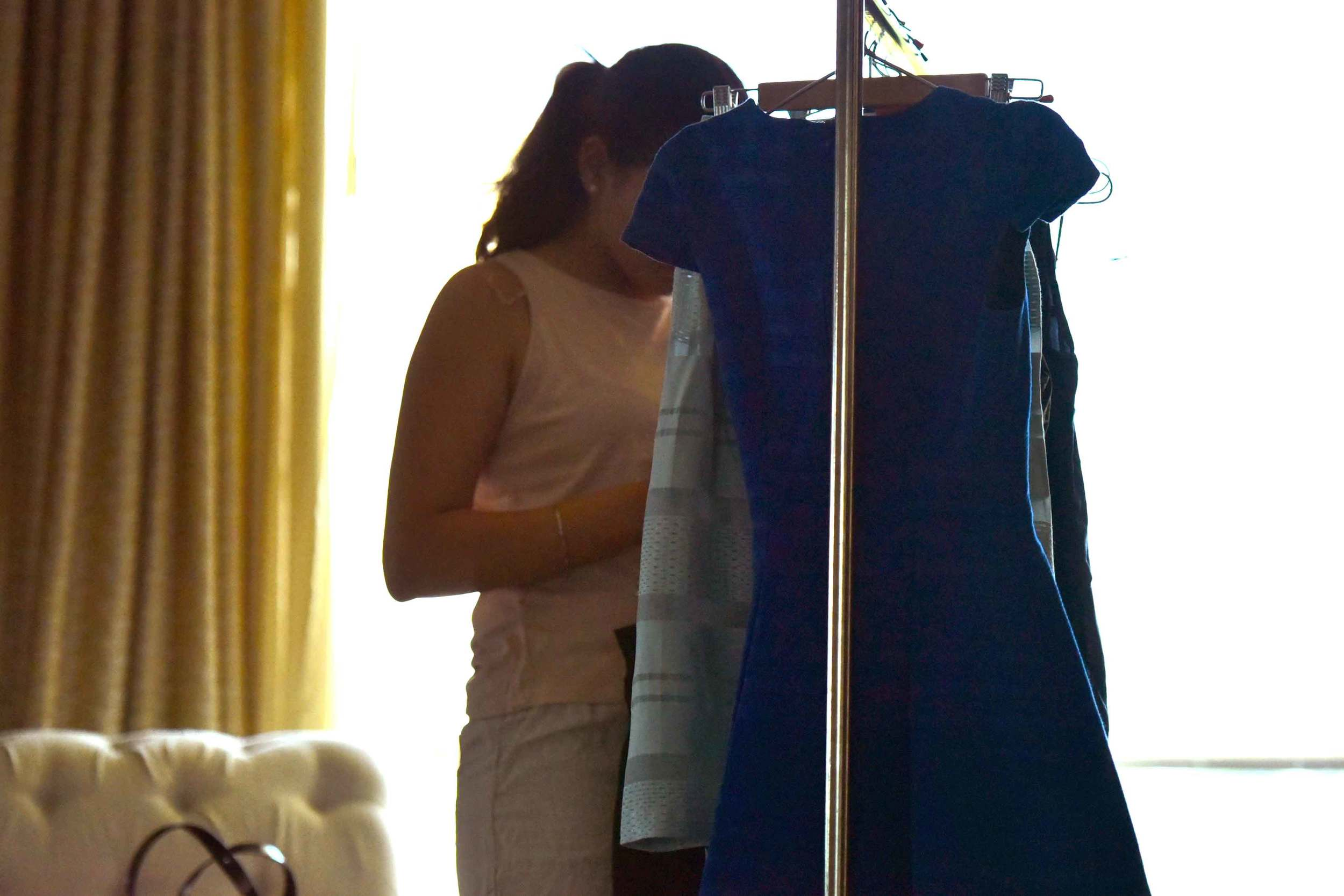 Getting clothes organized for a fashion photoshoot, image©gunjanvirk