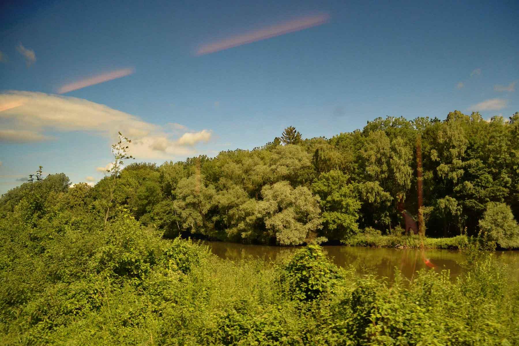 Rivers and streams, Germany by train. Image©gunjanvirk