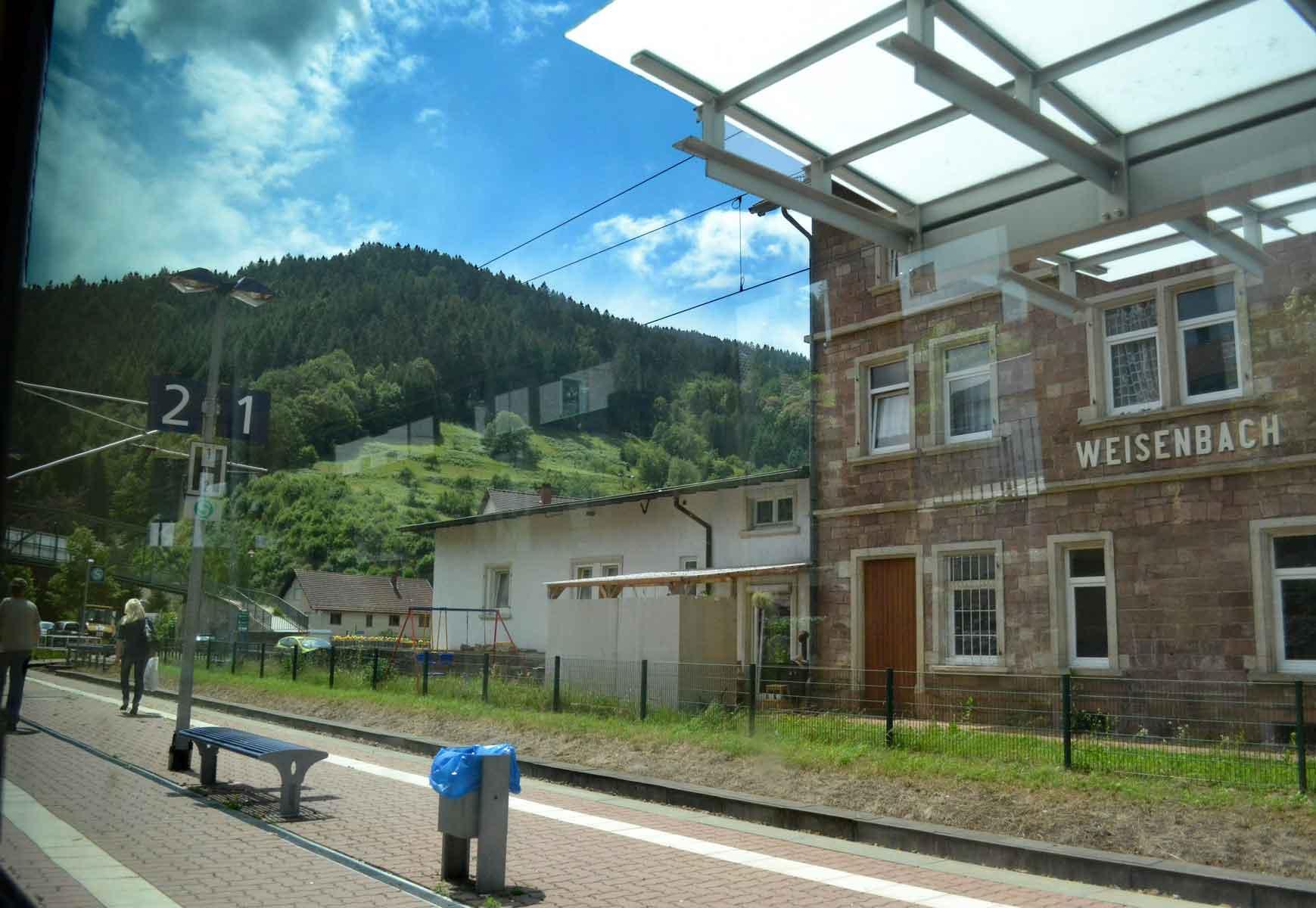 Weisenbach train station in Black Forest. Germany by train. Image©gunjanvirk