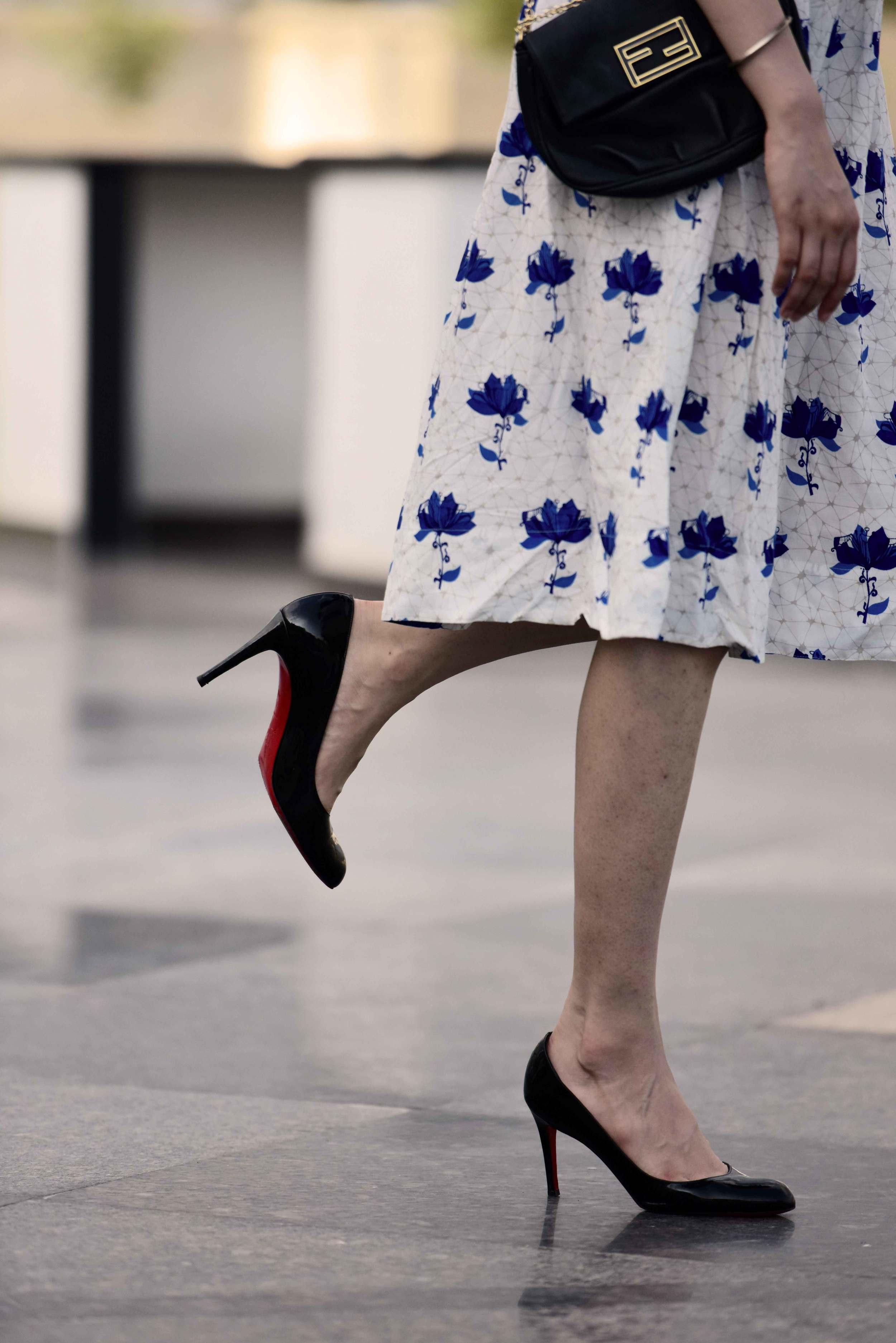 Bag: Fendi, Shoes: Loubitons. Image©gunjanvirk