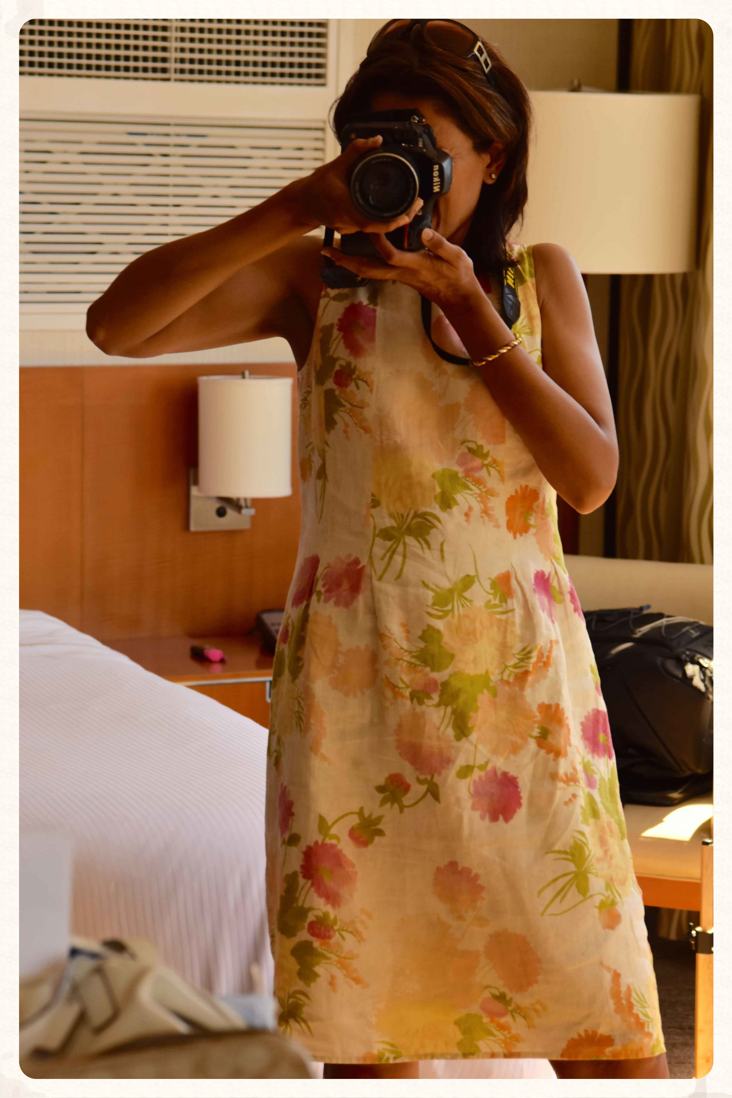 Me in my Jjill linen dress. Image©gunjanvirk