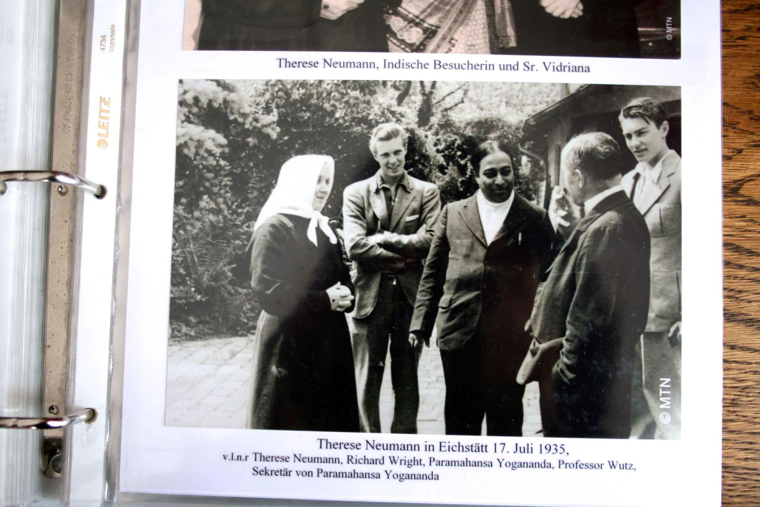 Saint Therese Neumann with Paramahansa Yogananda, Konnersreuth, Bavaria, Germany.