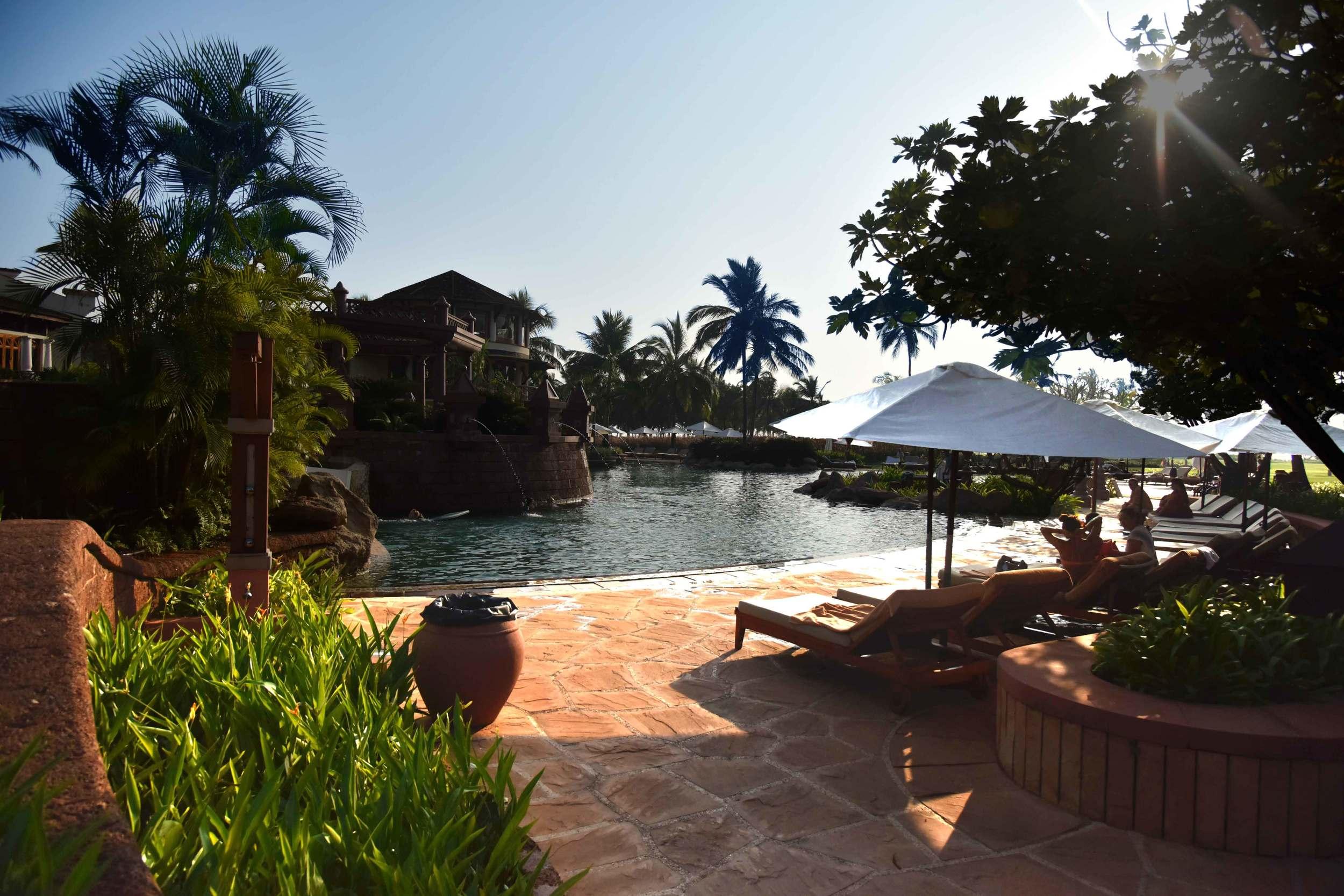 Sun Bathing at the Park Hyatt Goa Hotel. Image©sourcingstyle.com.