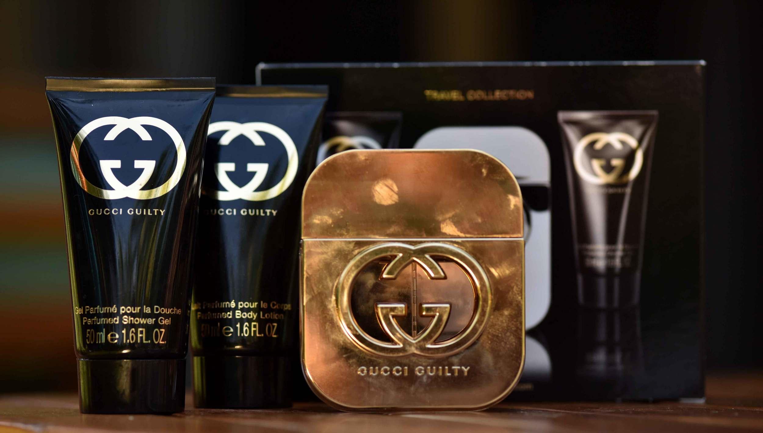 The Gucci Guilty travel set. Image©gunjanvirk