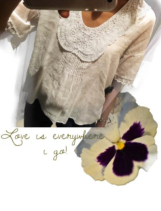 Zara blouse with lace trim sleeve, image©gunjanvirk