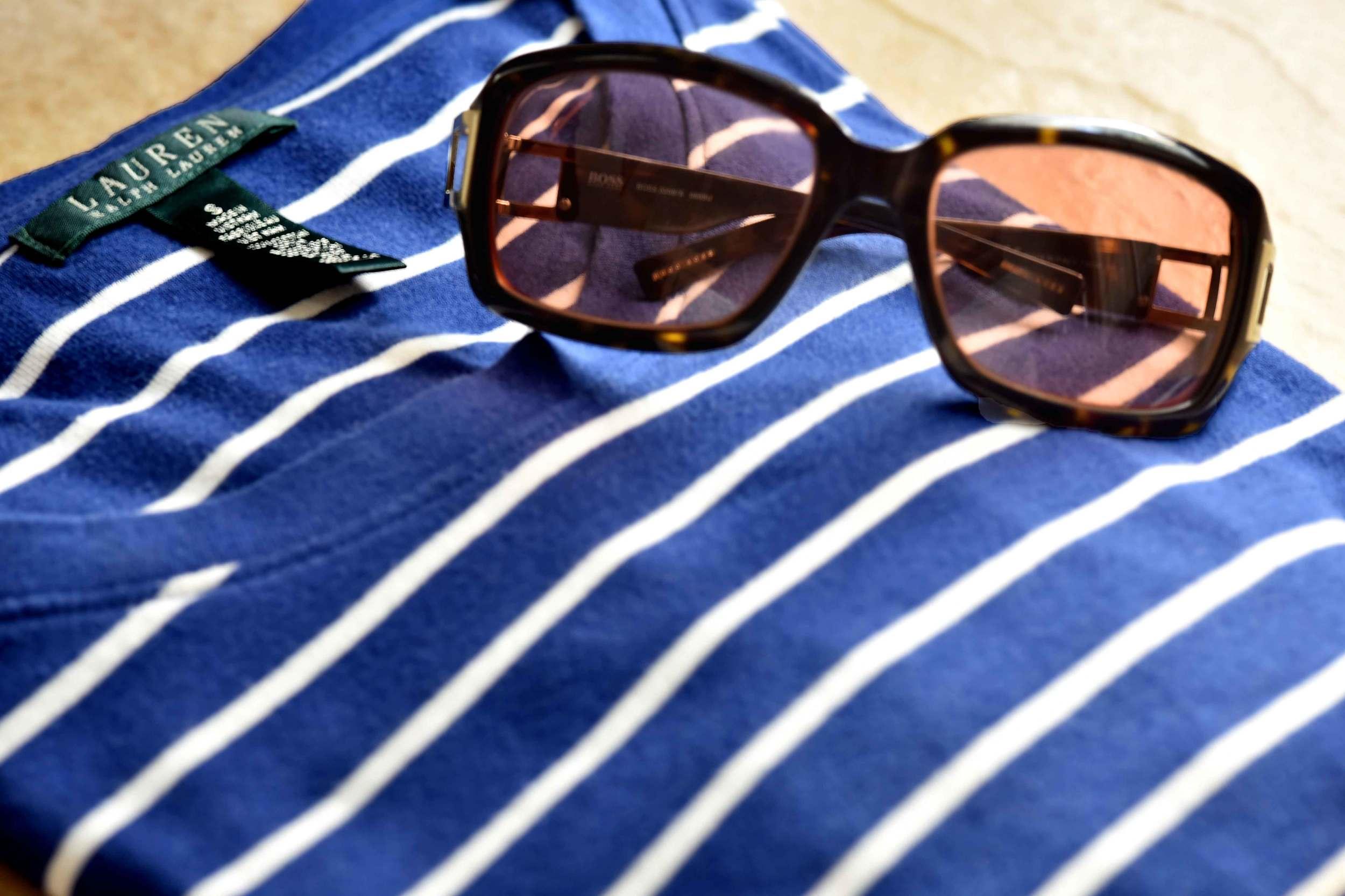 My Ralph Lauren full sleeves striped tee and my Hugo Boss sunglasses. Image©gunjanvirk