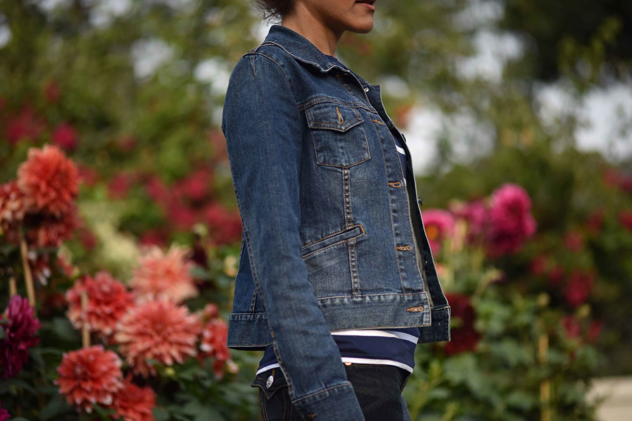 Love is in the air this spring with a Talbots denim jacket! Image©gunjanvirk