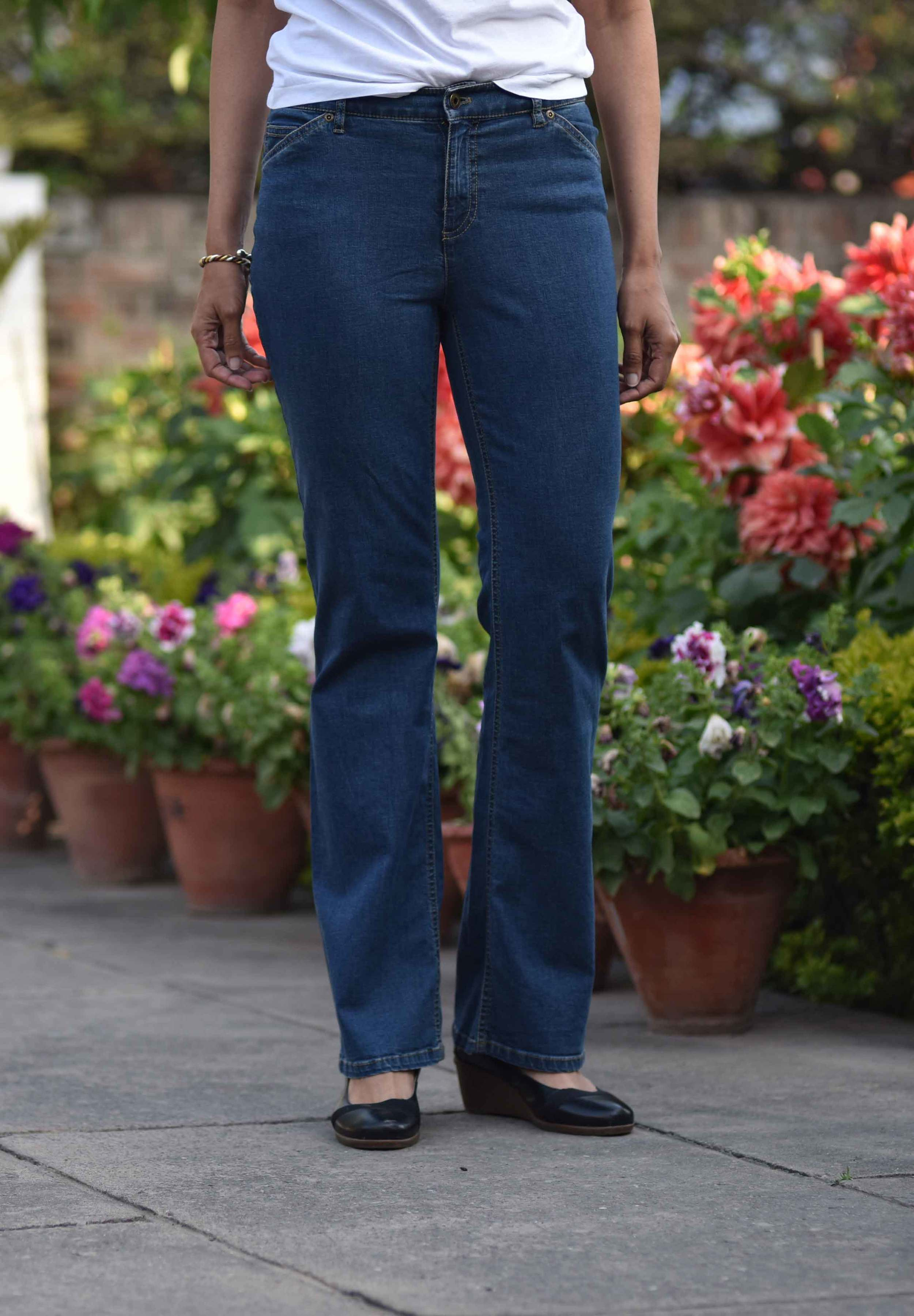 The JJill Tried and True Fit Bootcut Jeans are so comfy! Image©gunjanvirk