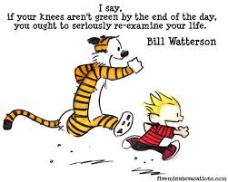 Calvin running with his tiger Hobbes! Image from redpaper.in