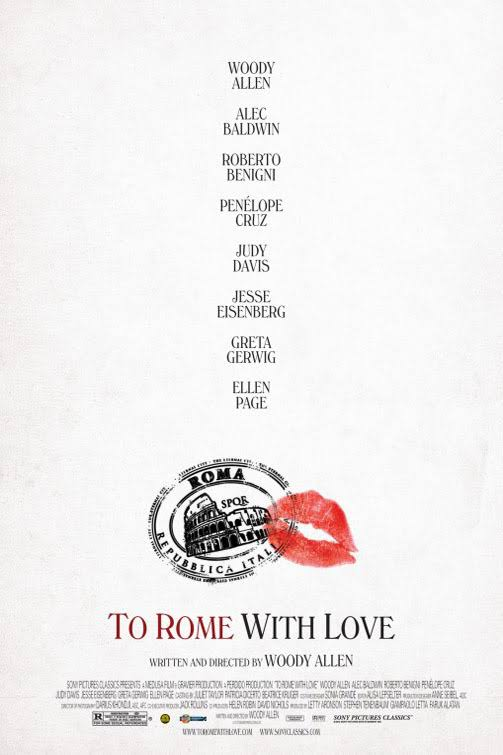 Movie poster  To Rome with Love