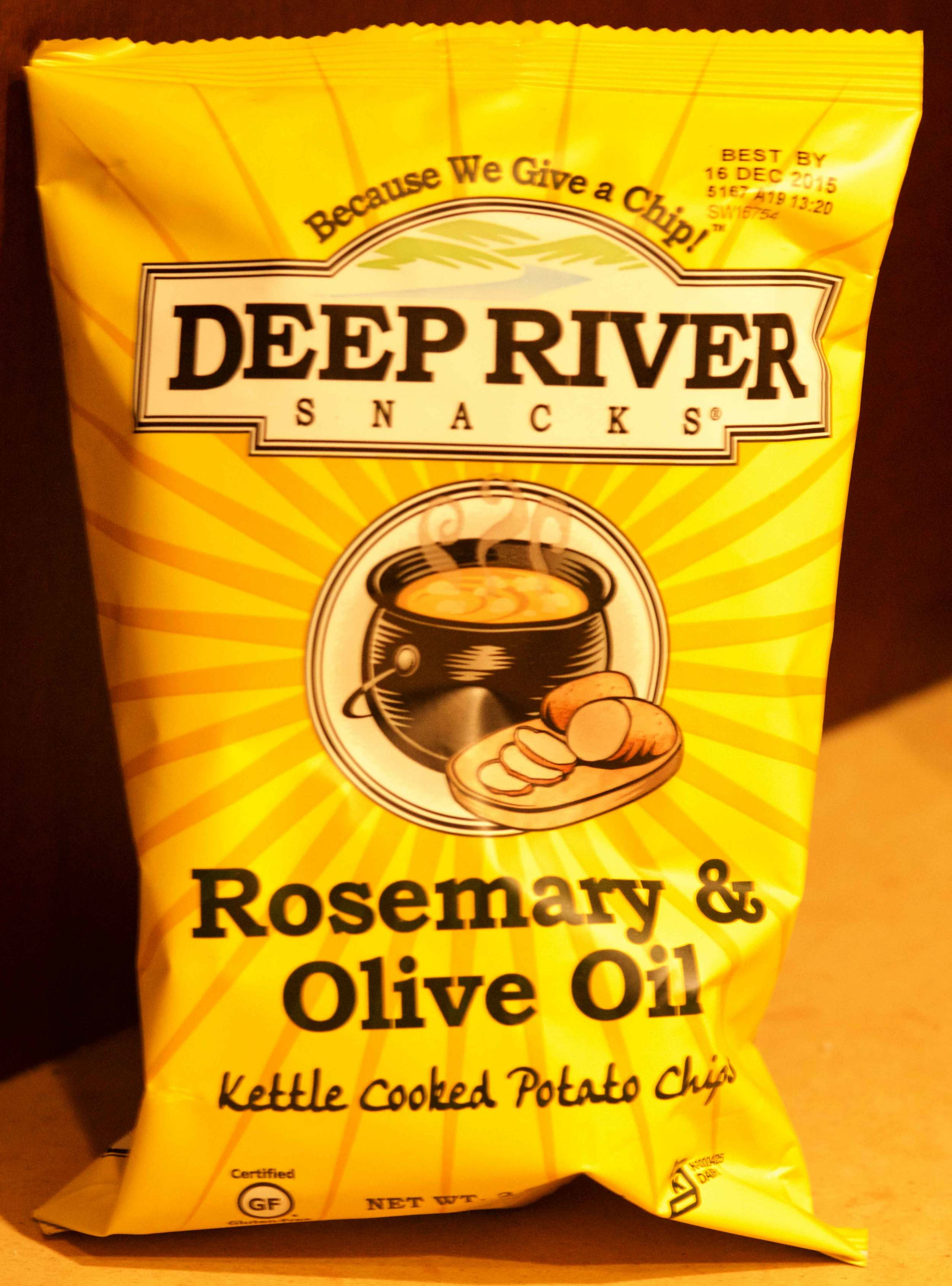 Kettle cooked potato chips from Deep River. Image©gunjanvirk