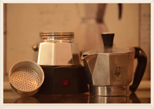 The Electric Moka Espresso Maker from Bialetti is your best bet for a travel coffee maker! Image©gunjanvirk