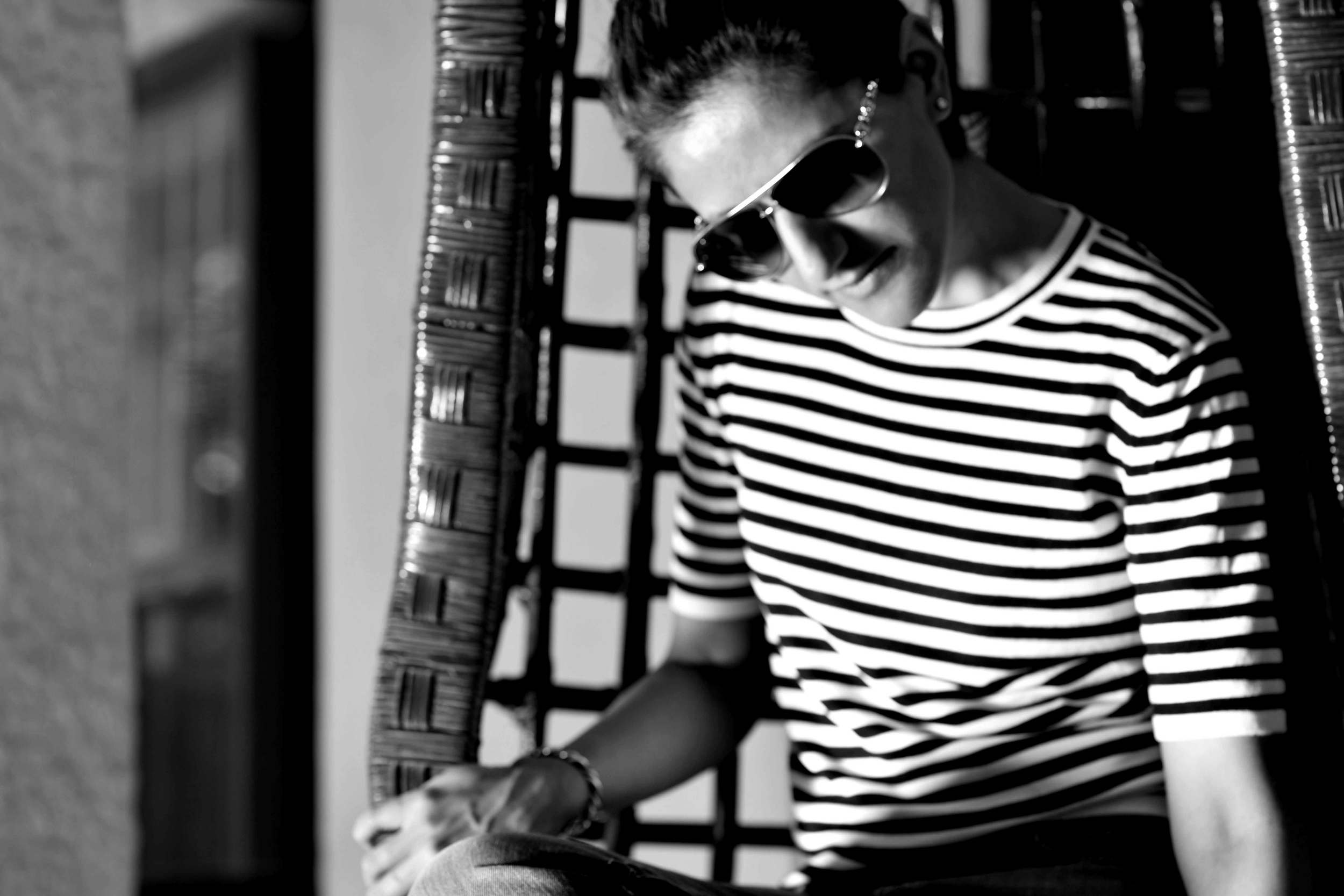 My Zara striped sweater, click here and browse Zara striped sweaters. Shades are Gucci. Image©gunjanvirk