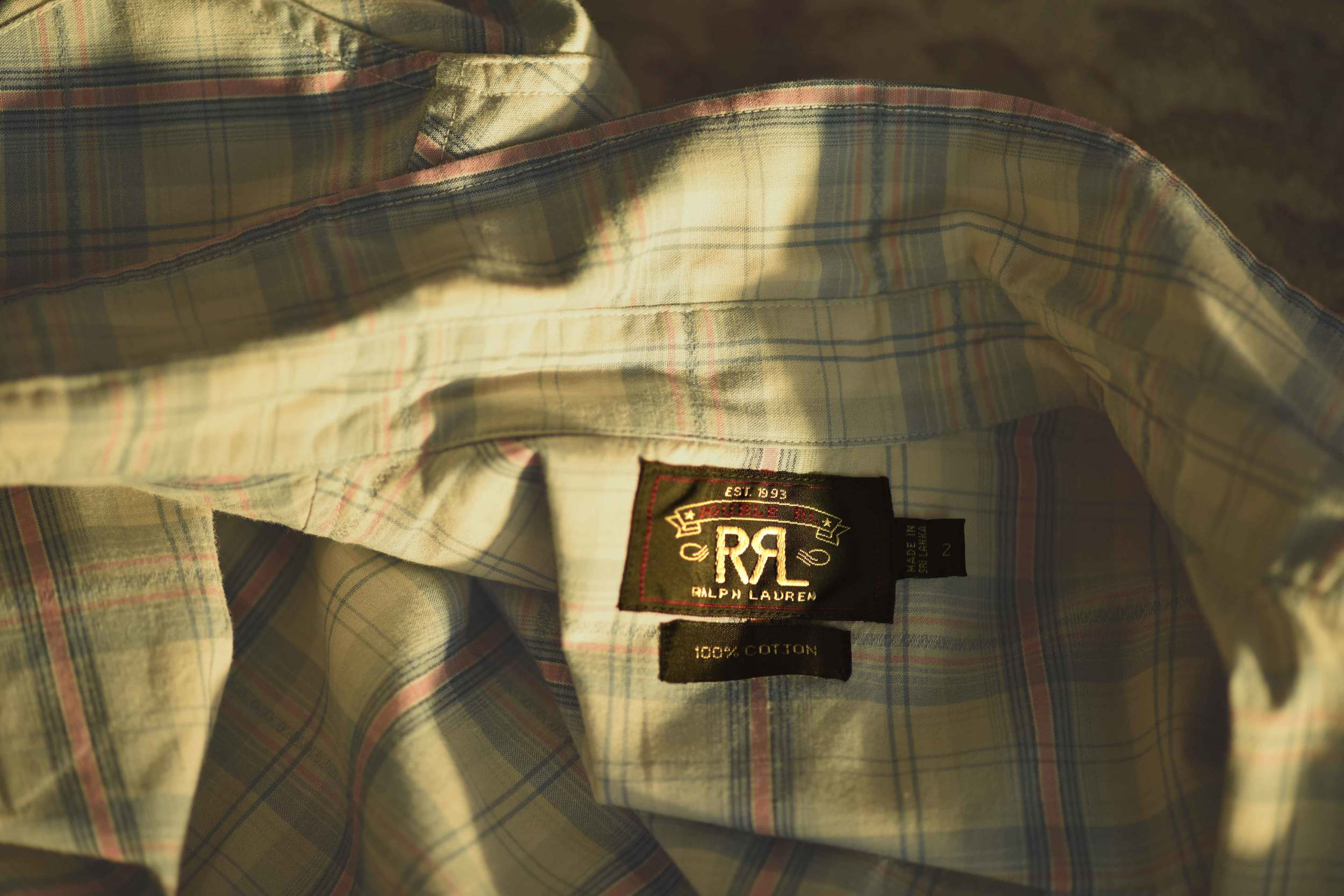 The Ralph Lauren RRL (double RL) western shirt label. Image©sourcingstyle.com