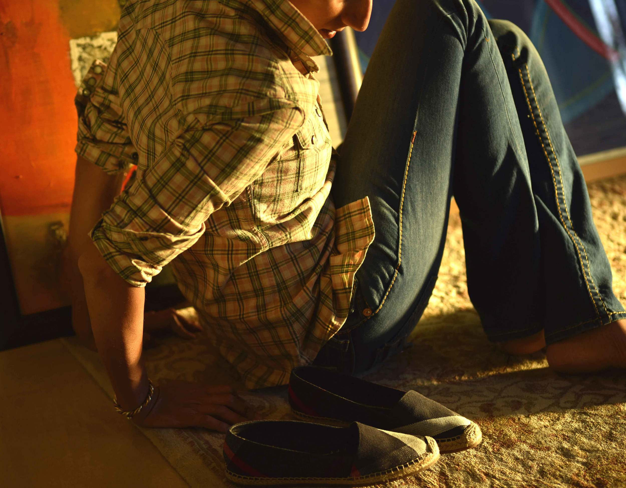 My Ralph Lauren RRL slim fitting western shirt with True Religion jeans and Burberry espadrilles. Image©sourcingstyle.com