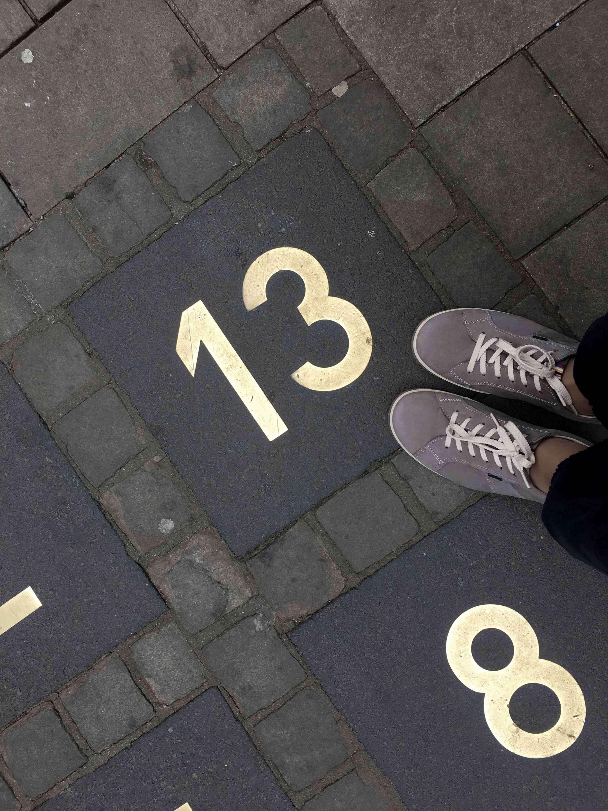 My lucky number is 13, what's yours? Number games on the road, Ratingen, Germany. Image©sourcingstyle.com