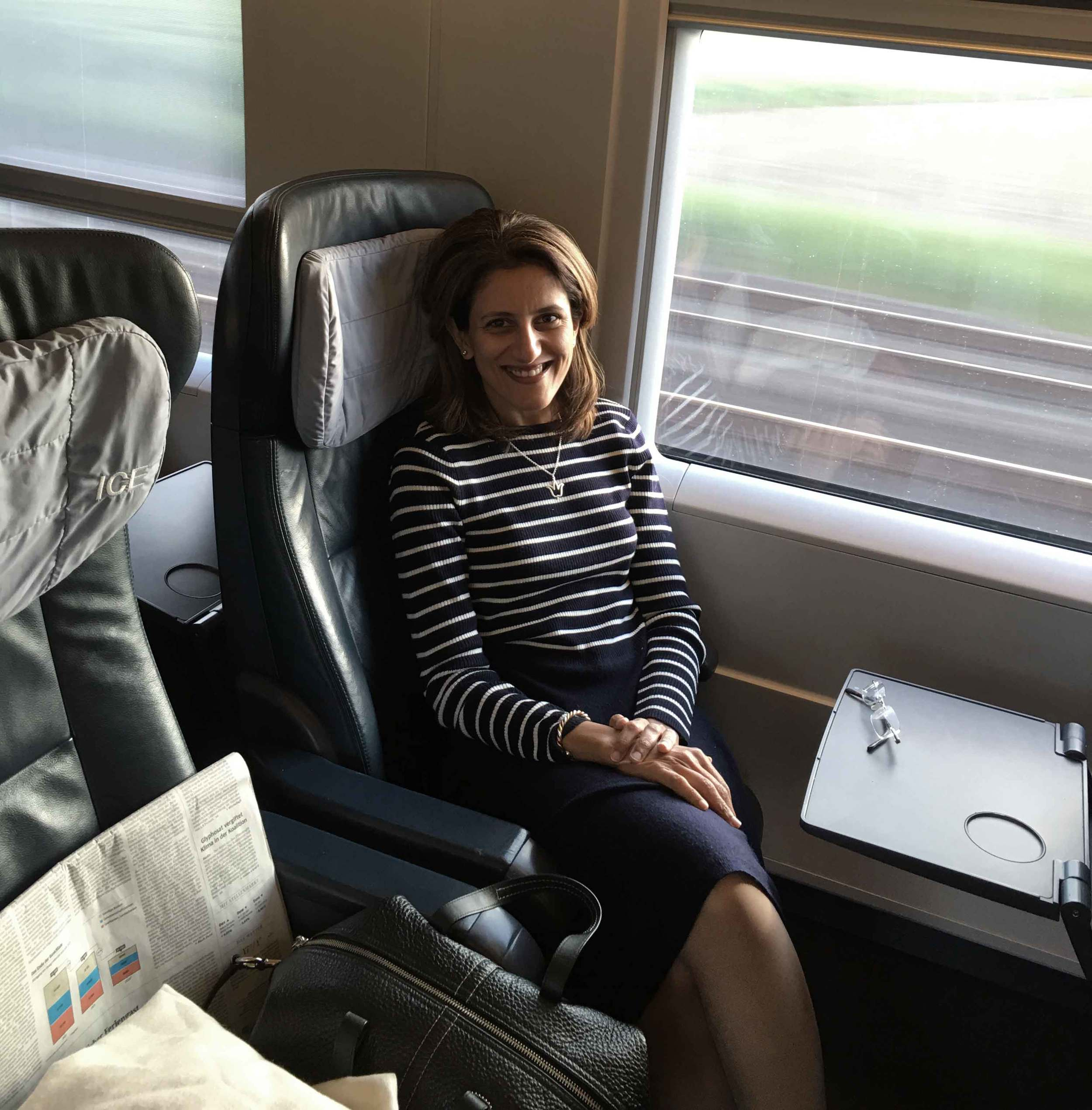 Traveling by Inter City Express, the high speed German rail, Deutsche Bahn, Germany. Image©sourcingstyle.com