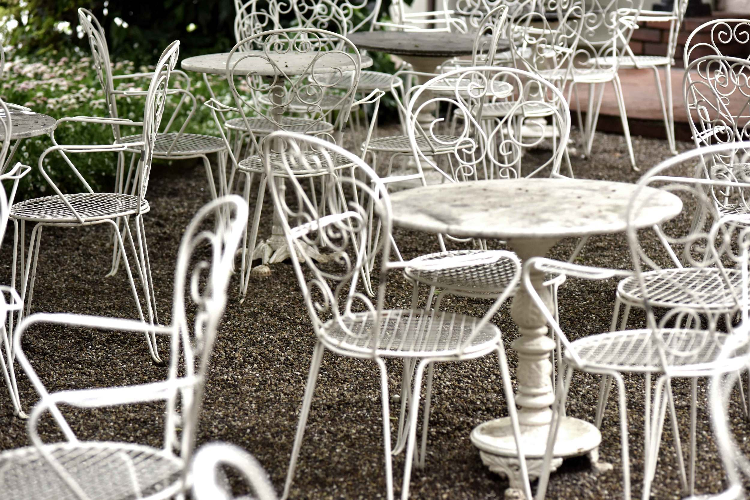 French style open air cafe, outdoor seating at Cafe König, Baden Baden, Germany. Image©sourcingstyle.com