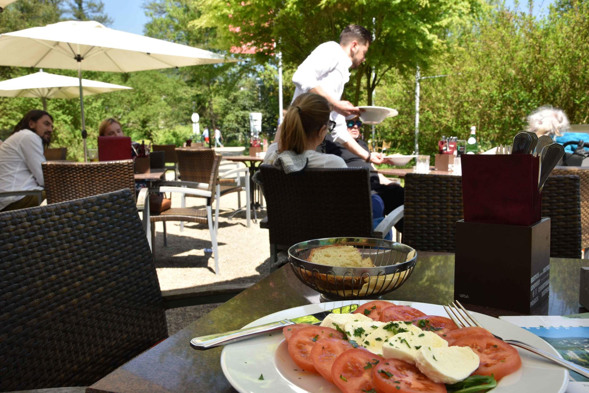 Mozarella and tomato salad, Baden Baden, Germany. Image©sourcingstyle.com