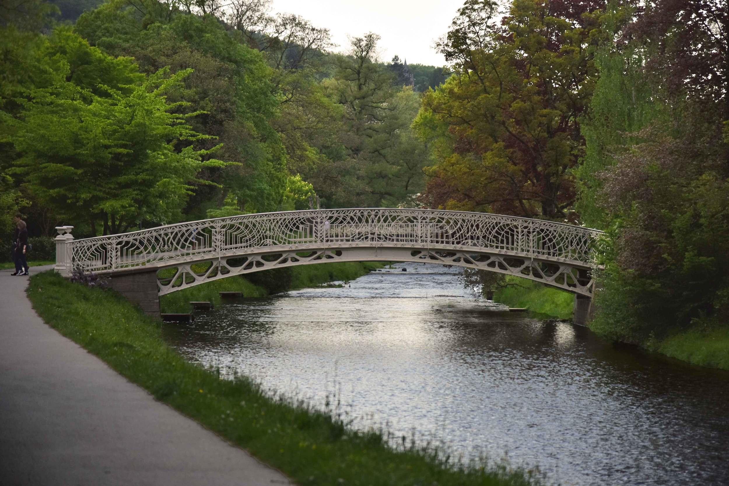 A bridge on Lichtentaler Allee, Baden Baden, Germany. Image©sourcingstyle.com