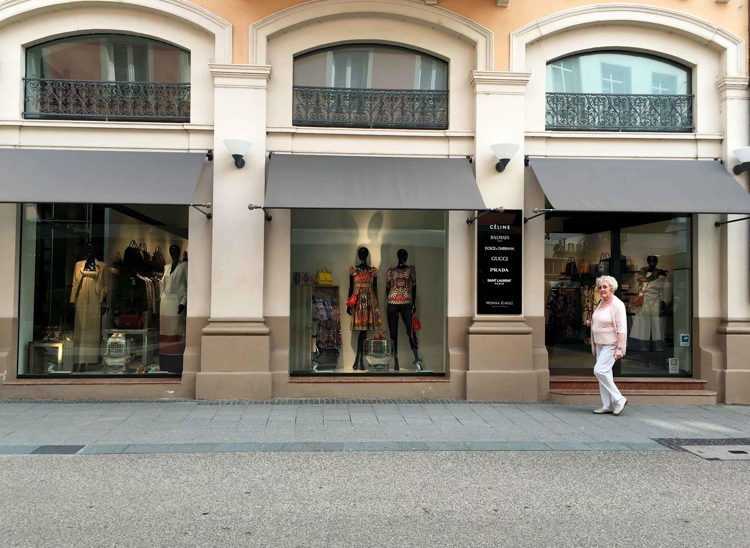 Gucci, Celine, Prada, shopping, Baden Baden, Germany. Image©sourcingstyle.com