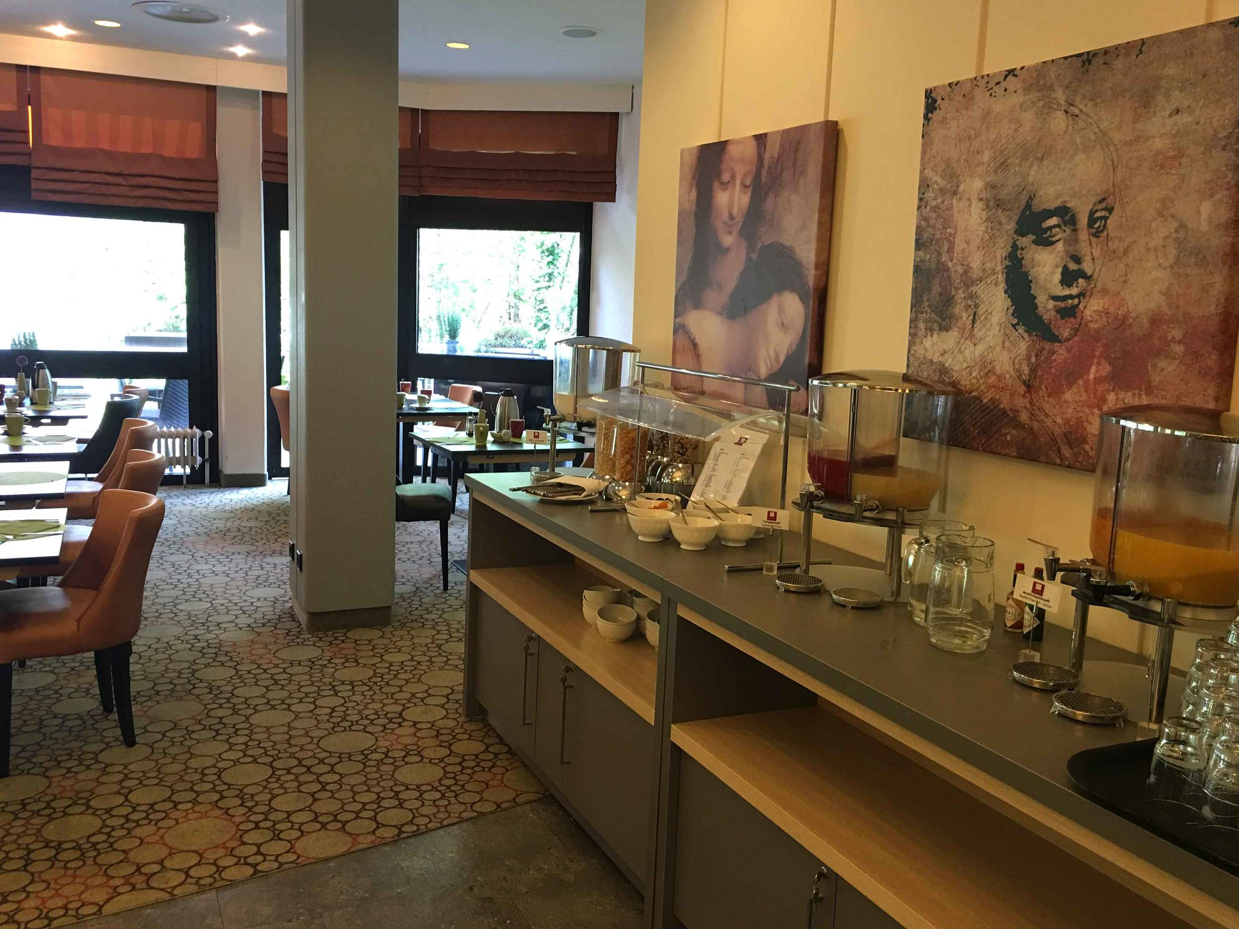 Buffet breakfast room, Leonardo Royal hotel, Baden Baden, Germany. Image©sourcingstyle.com