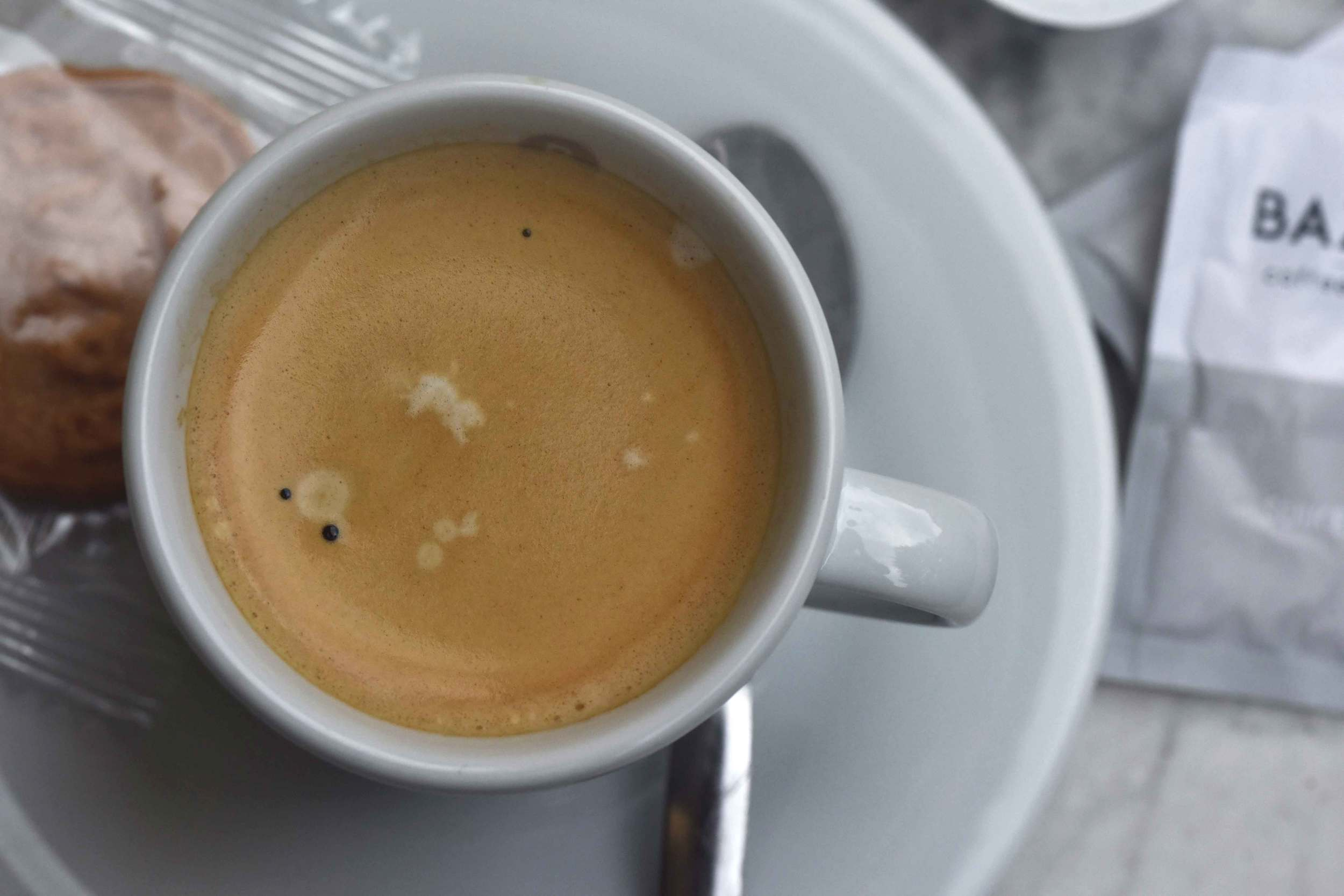 Coffee, Café-Pizzeria Staccato, Designer Outlet Roermond, Netherlands. Photo: Nicola Nolting, image©sourcingstyle.com