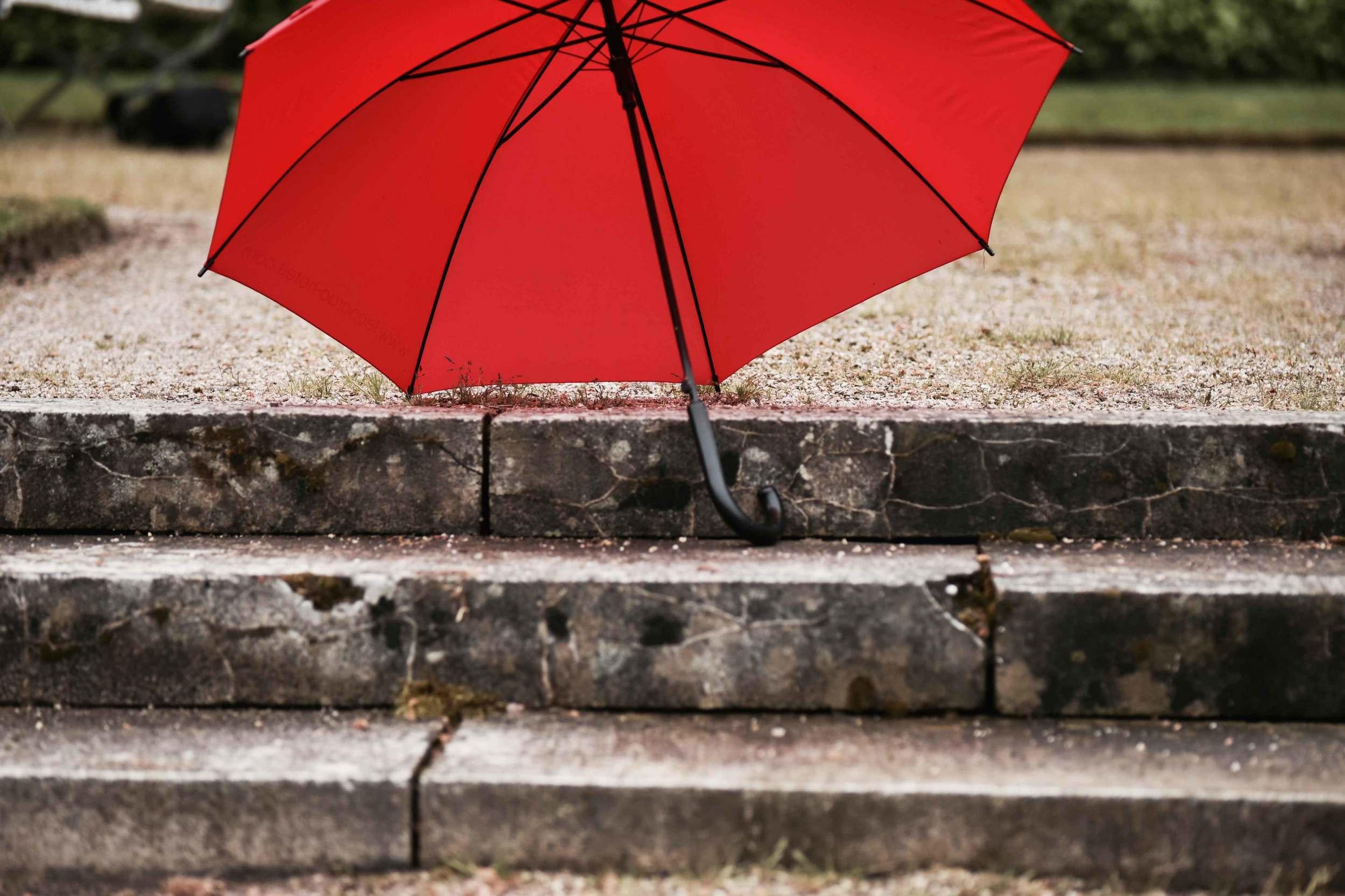A red umbrella, Gönneranlage, historic park, Baden Baden, Germany. Image©sourcingstyle.com