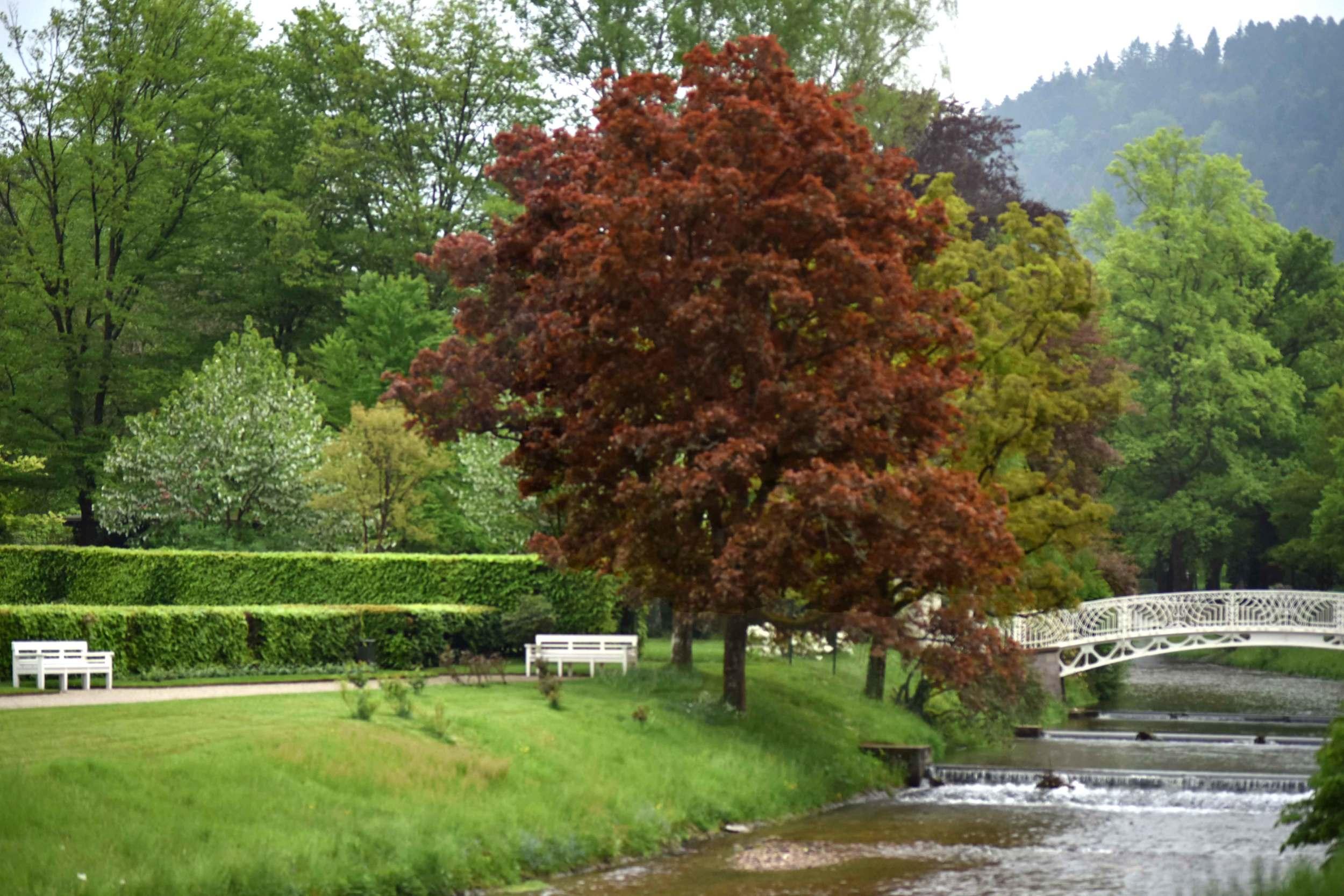 Oos river, Gönneranlage, historic park, Baden Baden, Germany. Image©sourcingstyle.com