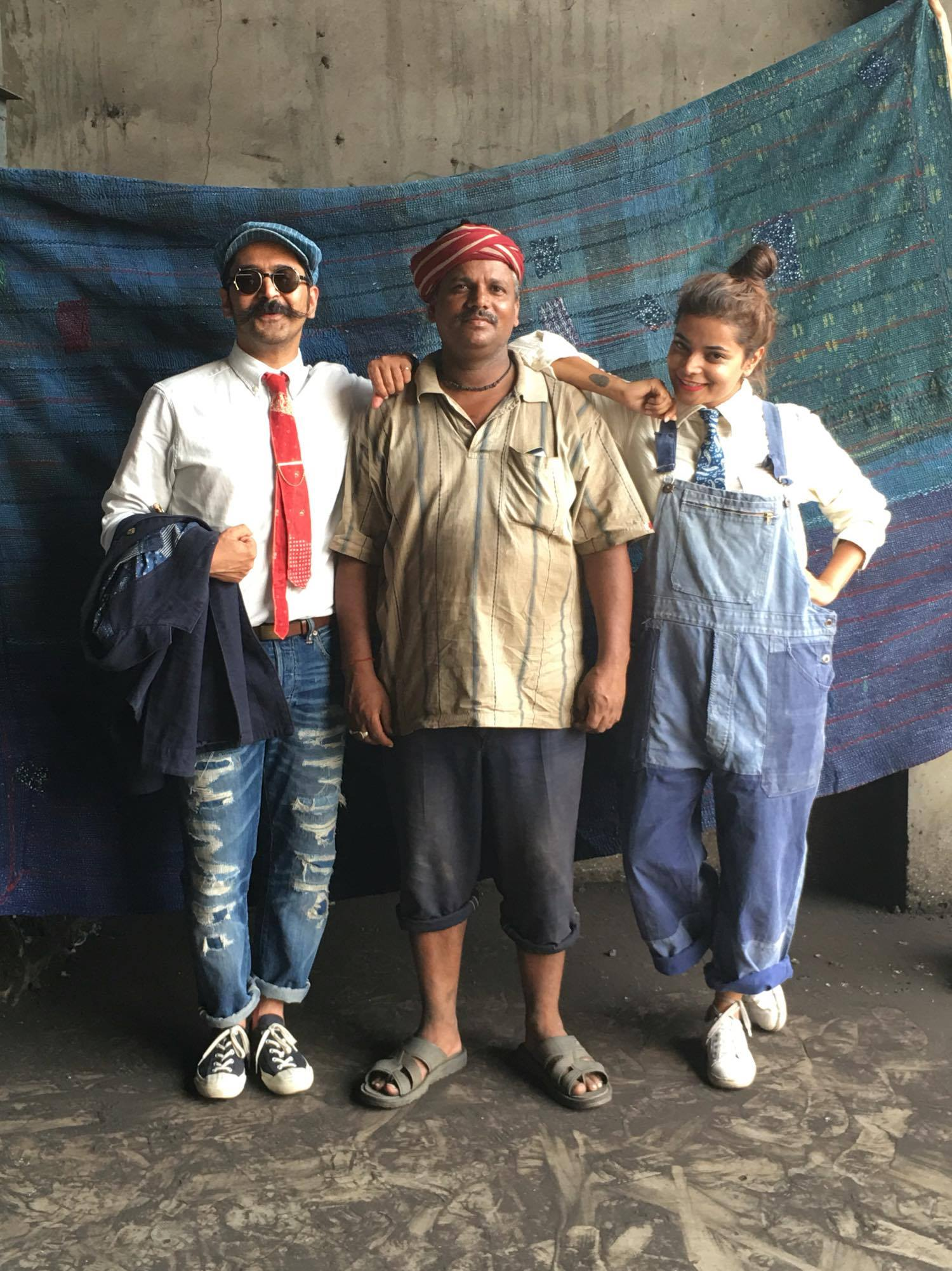 Vicksit at work with his besties, vintage with a modern twist, image©vicksitmehta