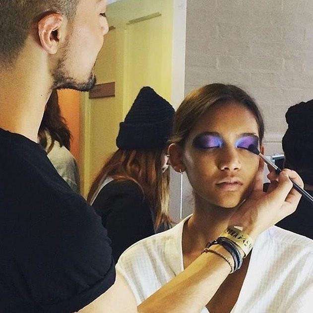 Behind the scenes for @bora_aksu with the amazing @_georginagraham, #makeupbydandelgado