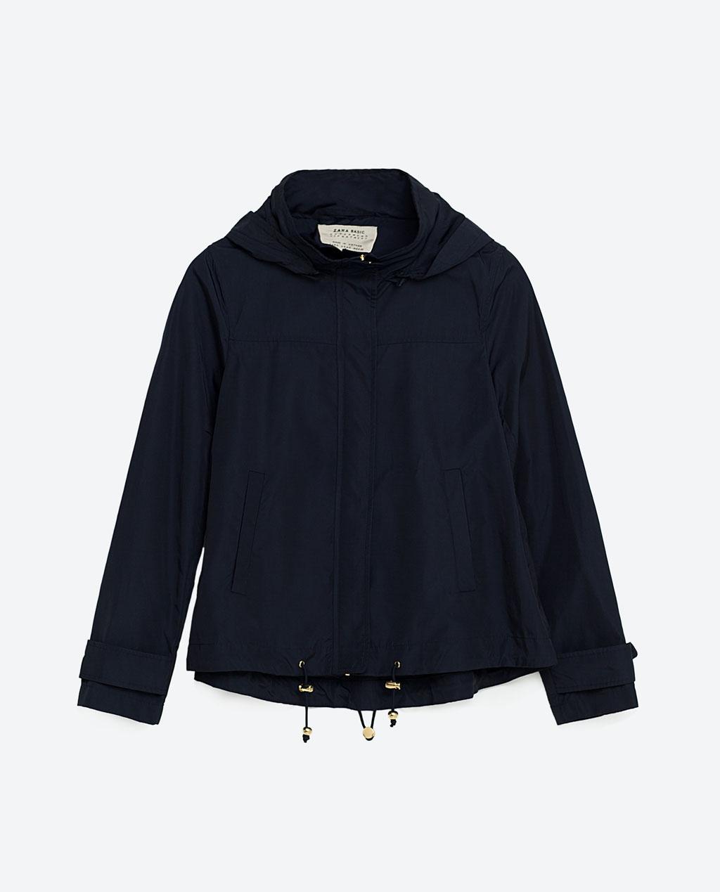Zara water repellent jacket, from Zara.com