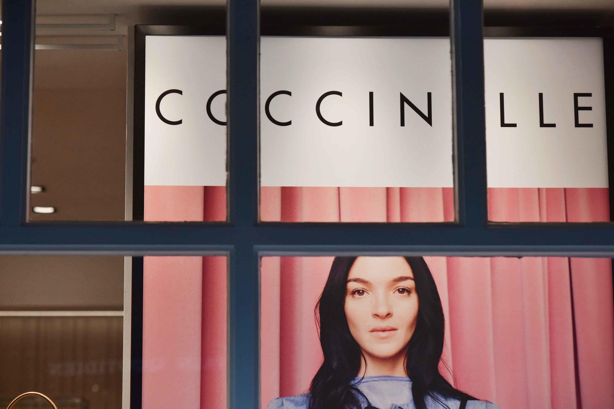 Coccinelle store, Bicester village, designer shopping outlet near London, UK. Image©sourcingstyle.com