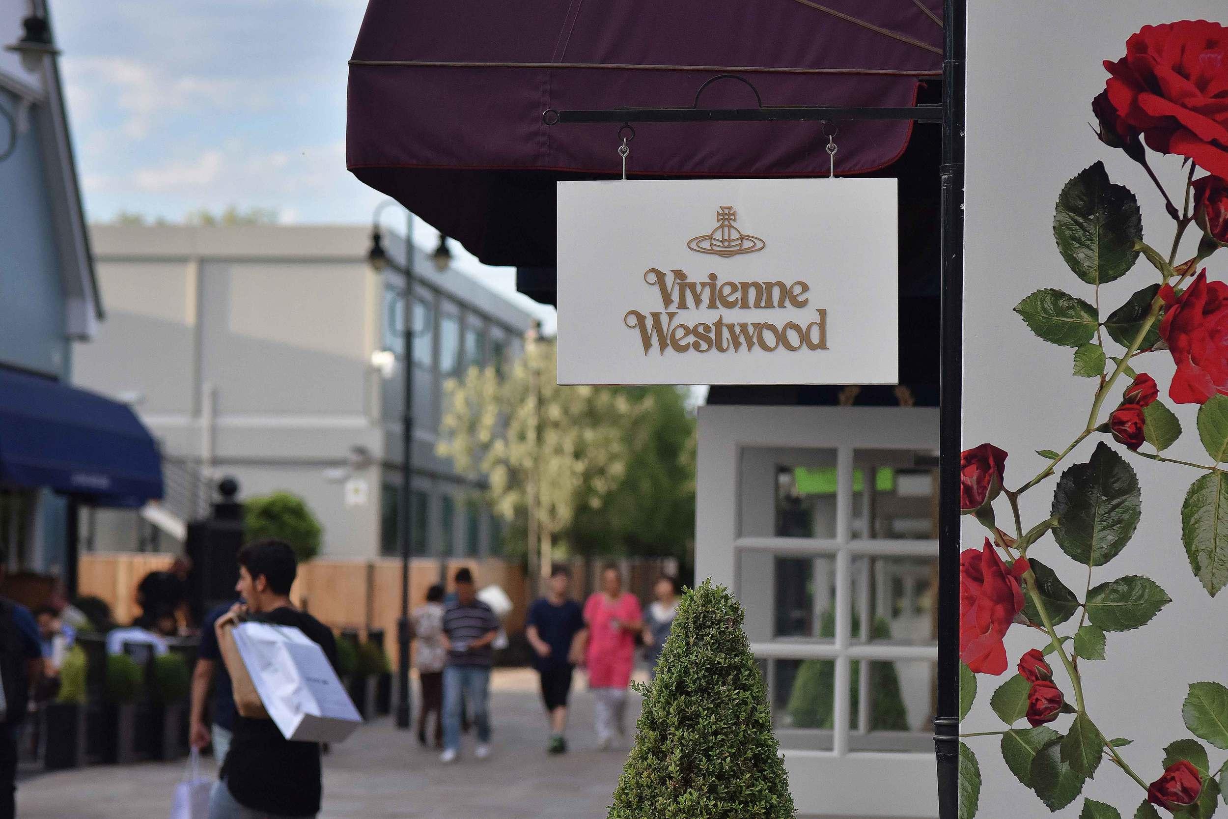 Vivienne Westwood, Bicester village, designer shopping outlet near London, UK. Image©sourcingstyle.com