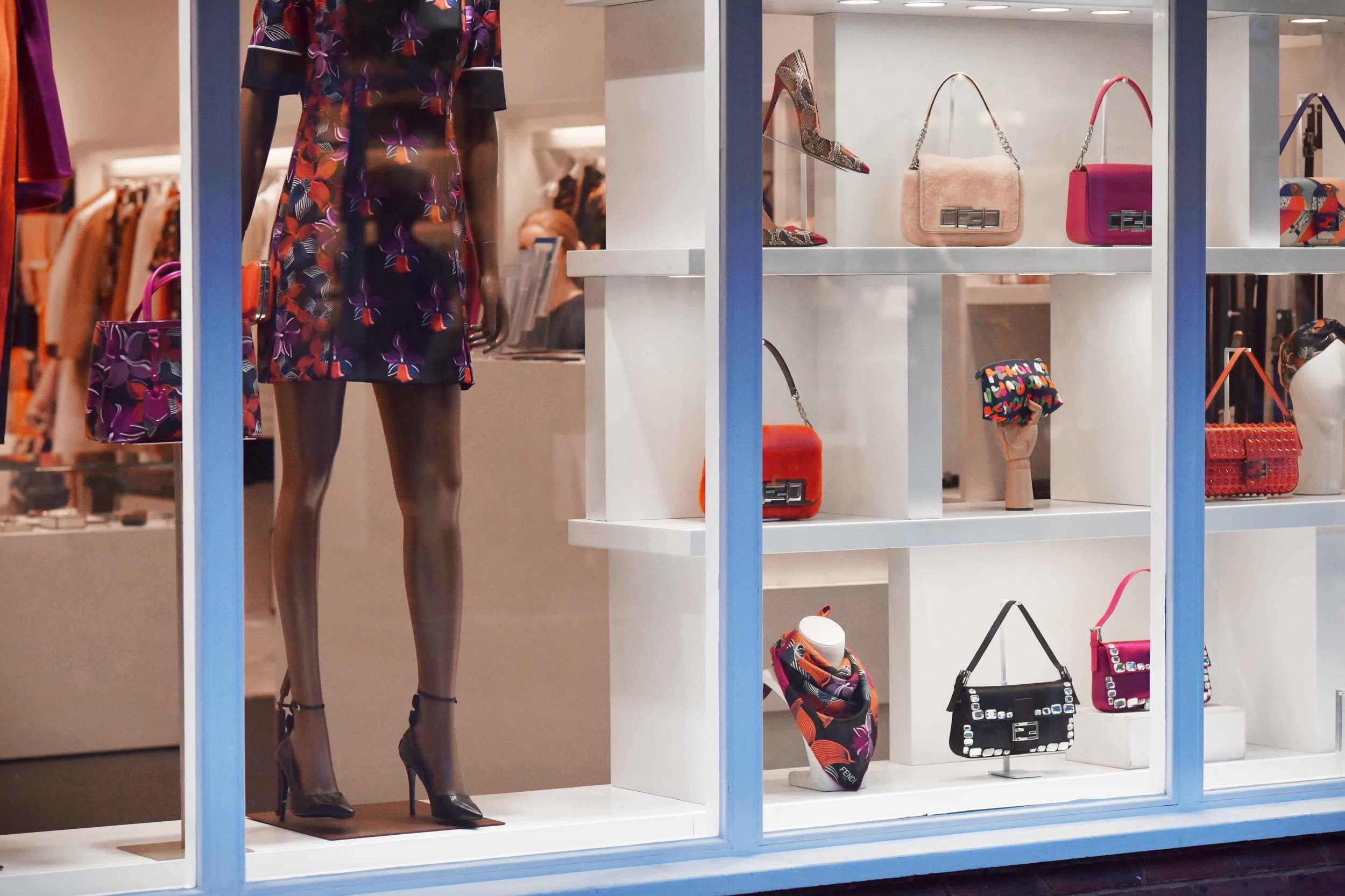 Fendi, Bicester village, designer shopping outlet near London, UK. Image©sourcingstyle.com