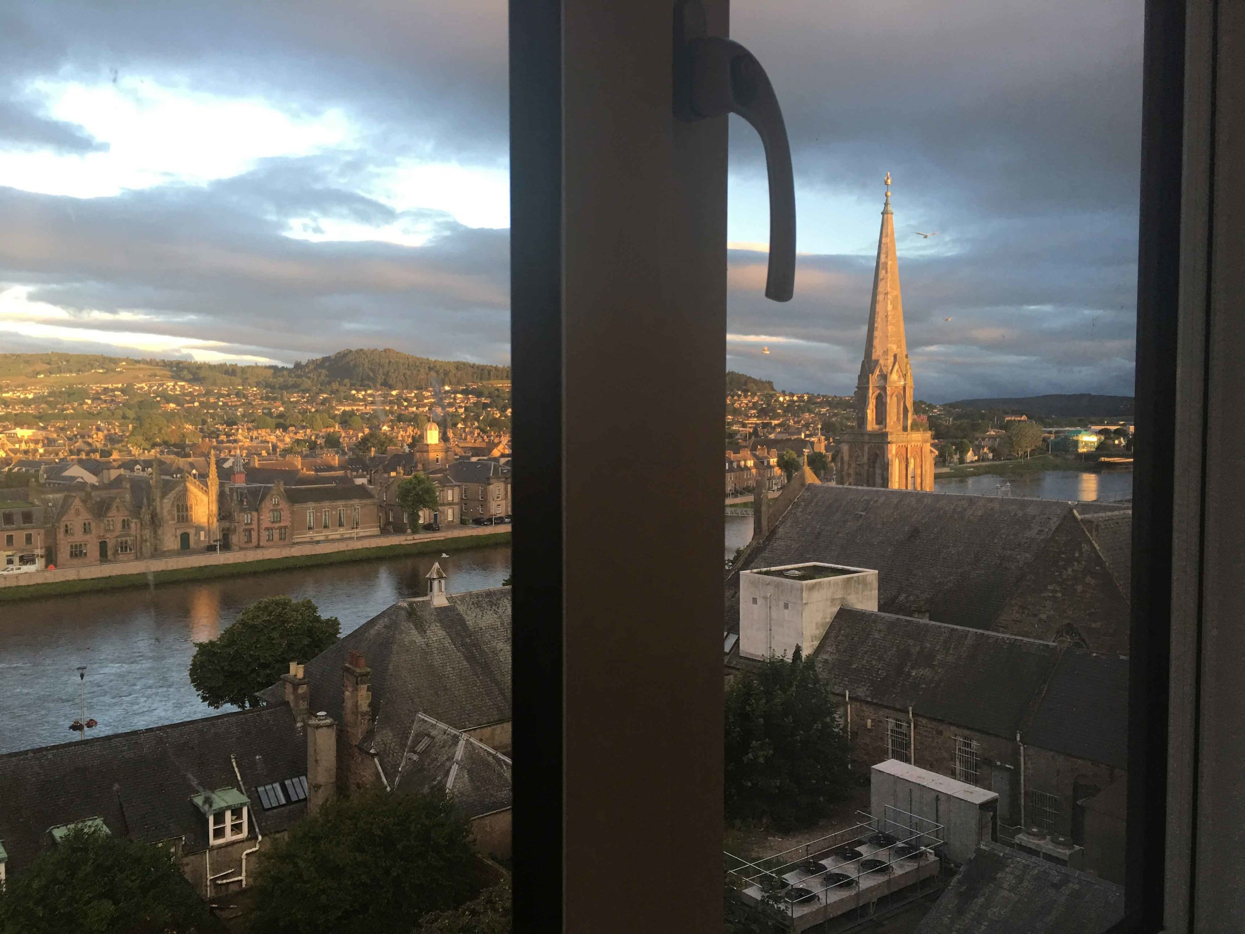 Mercure Inverness hotel, Inverness, Scotland, view from my room window. Image©sourcingstyle.com