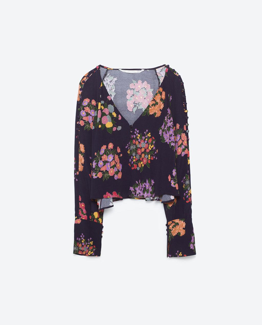 Zara floral top from zara.com.