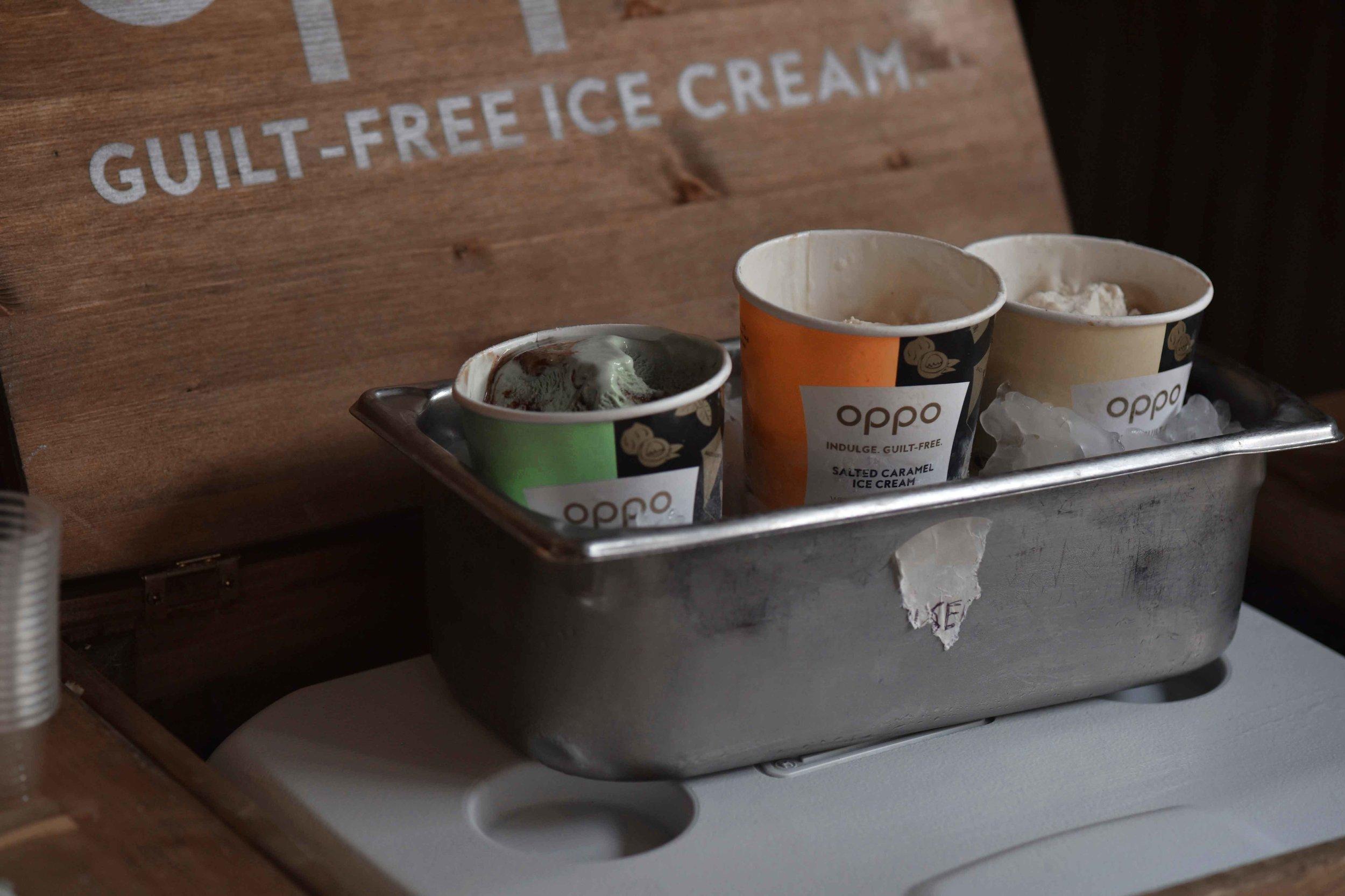 Guilt free Oppo ice-cream, High Street Kensington, London. Image©sourcingstyle.com