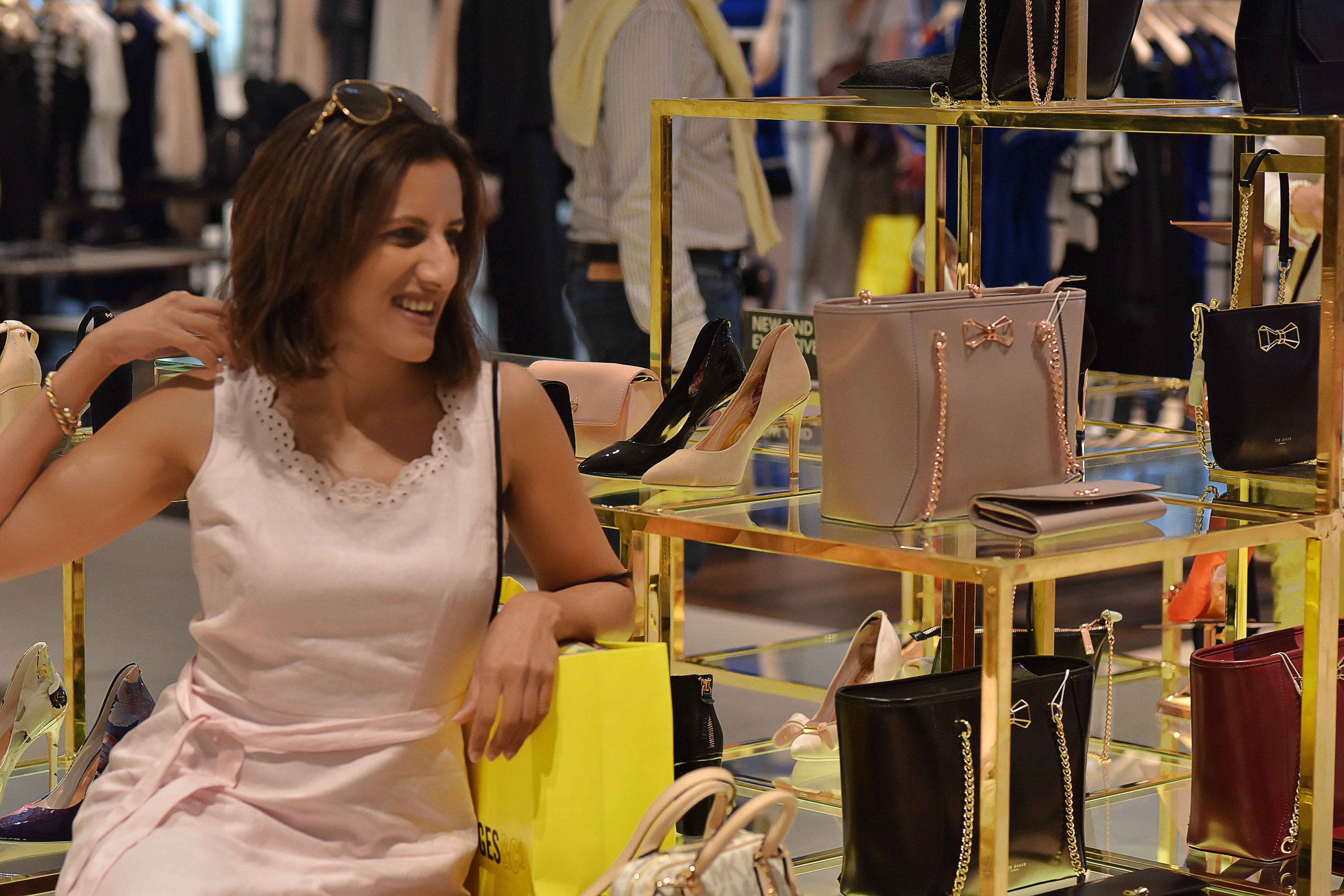 Selfridges, shoes and bags section, London, U.K. Image©sourcingstyle.com