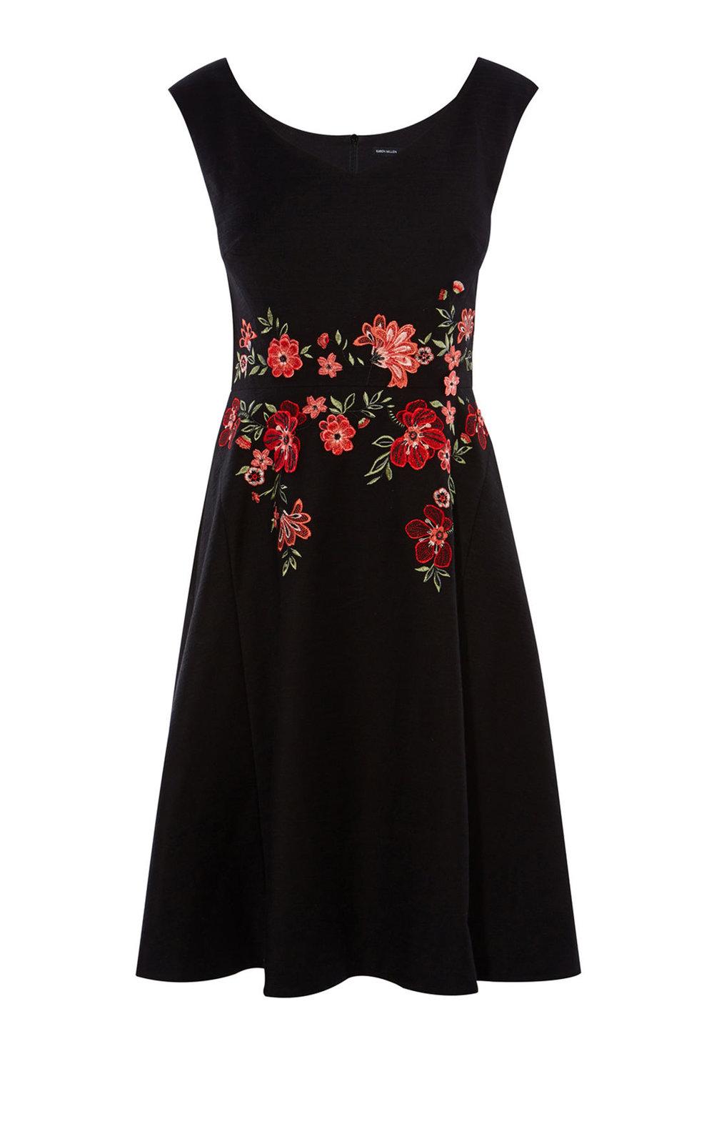 Black Karen Millen dress from karenmillen.com