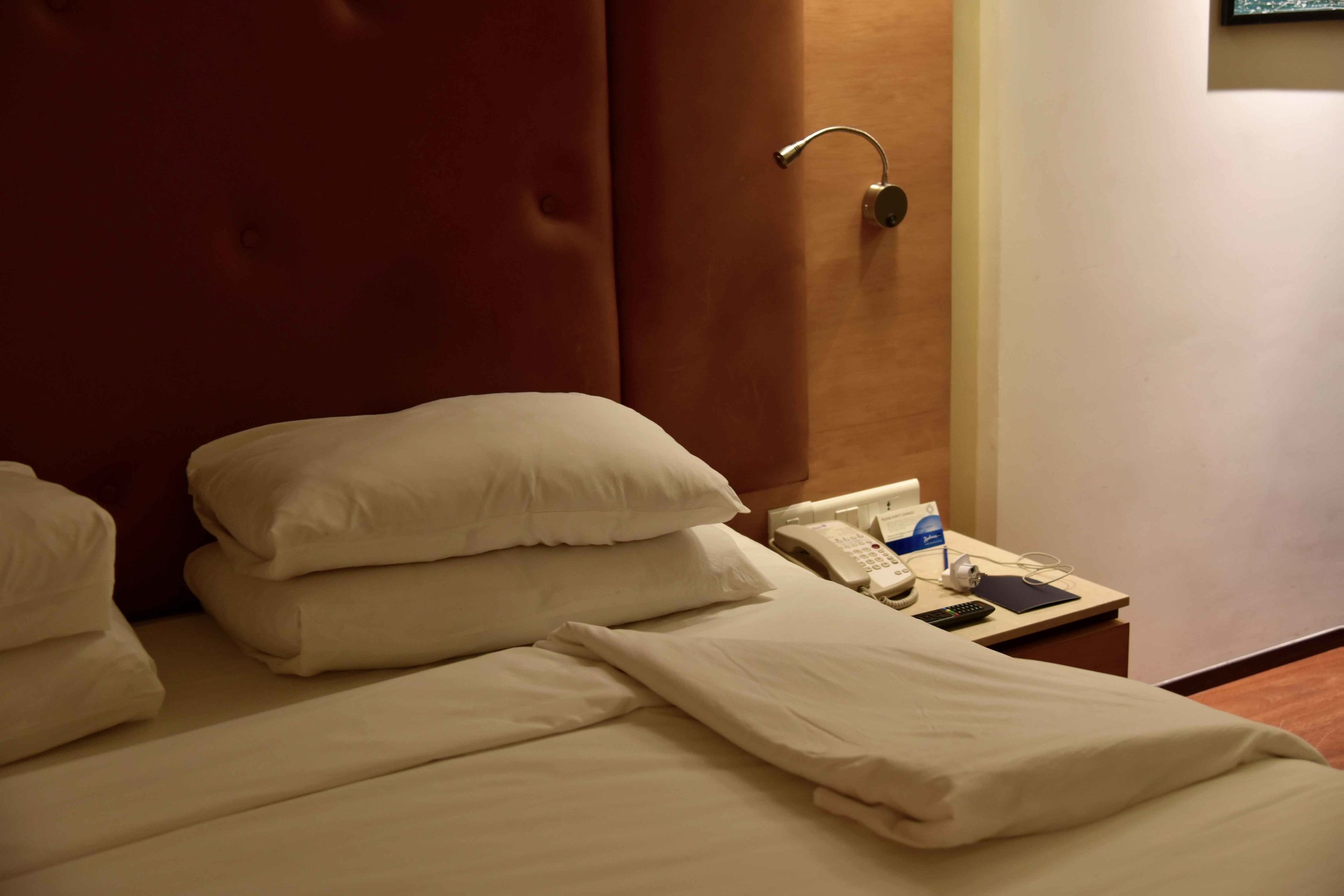 Evening turndown service, Radisson Blu Hotel, lobby area, Ranchi, Jharkhand, India. Image©sourcingstyle.com.