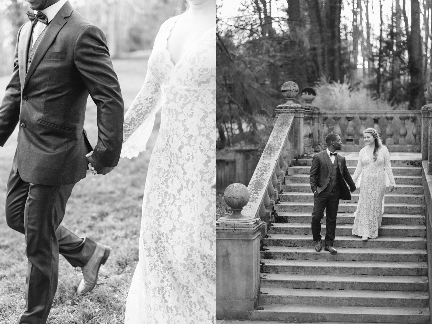 classic-romantic-wedding-maryland-photographer-strong-mansion-sentimental-ceremony-editorial-portraits-fine-art-bw-stairs