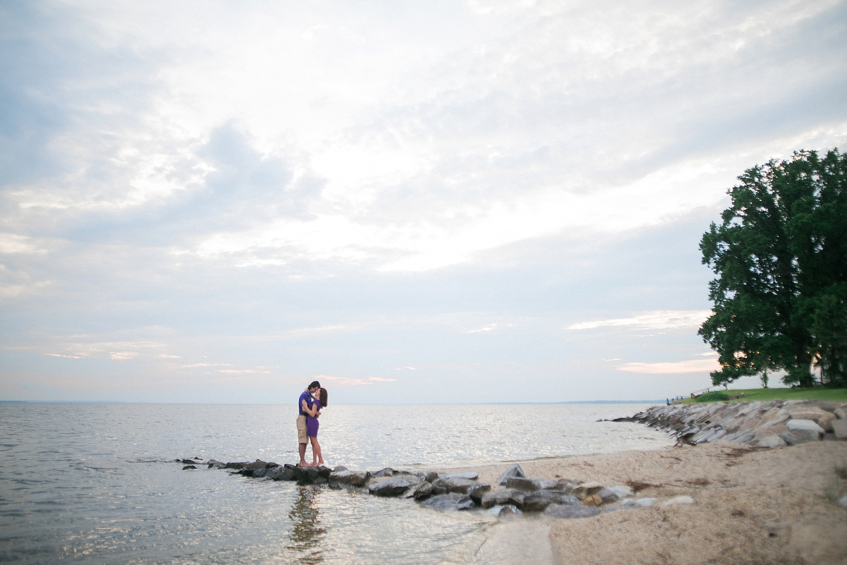 southern maryland beach engagement photographer