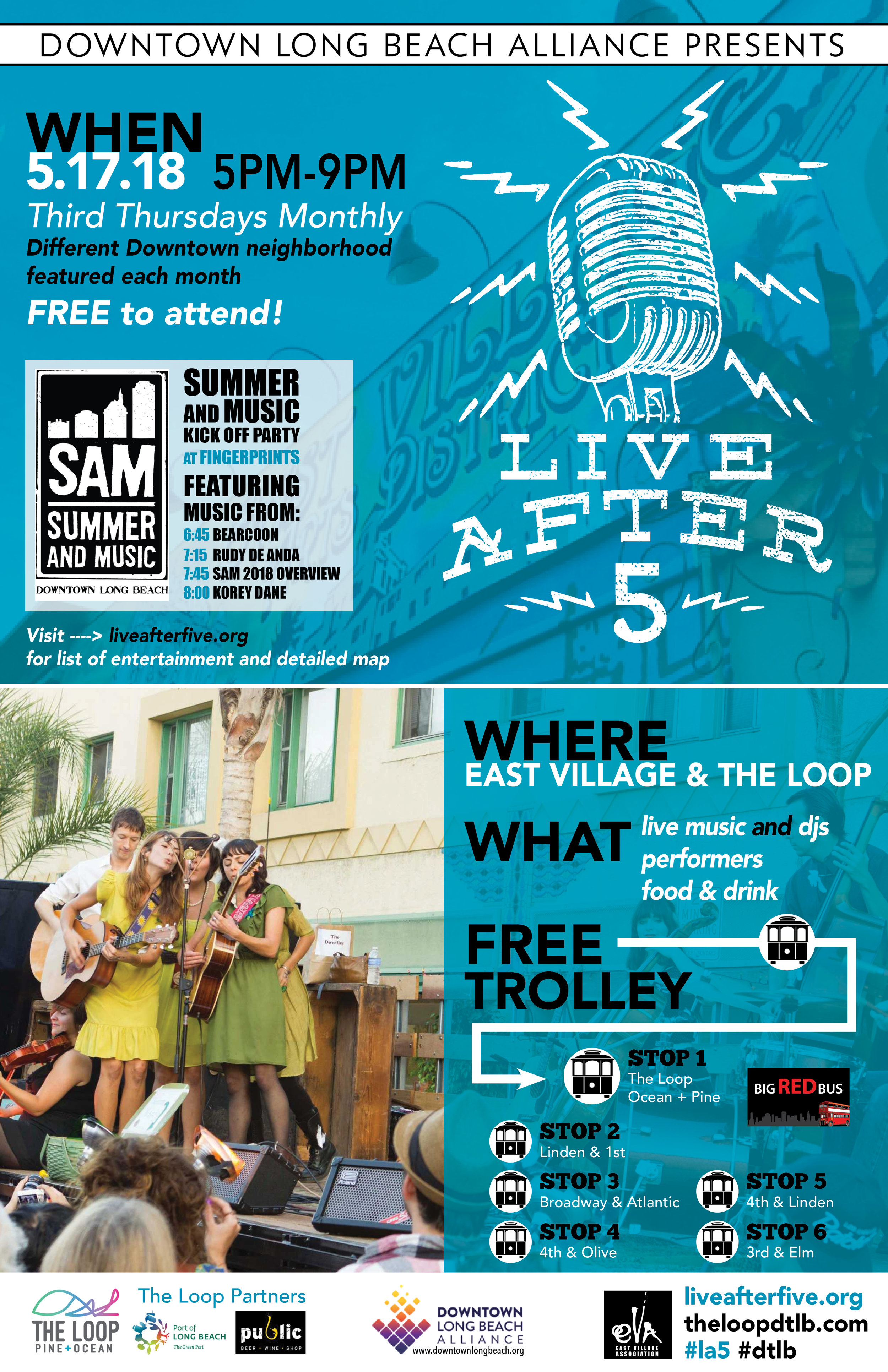 Live After 5 - May 17 - East Village & The Loop
